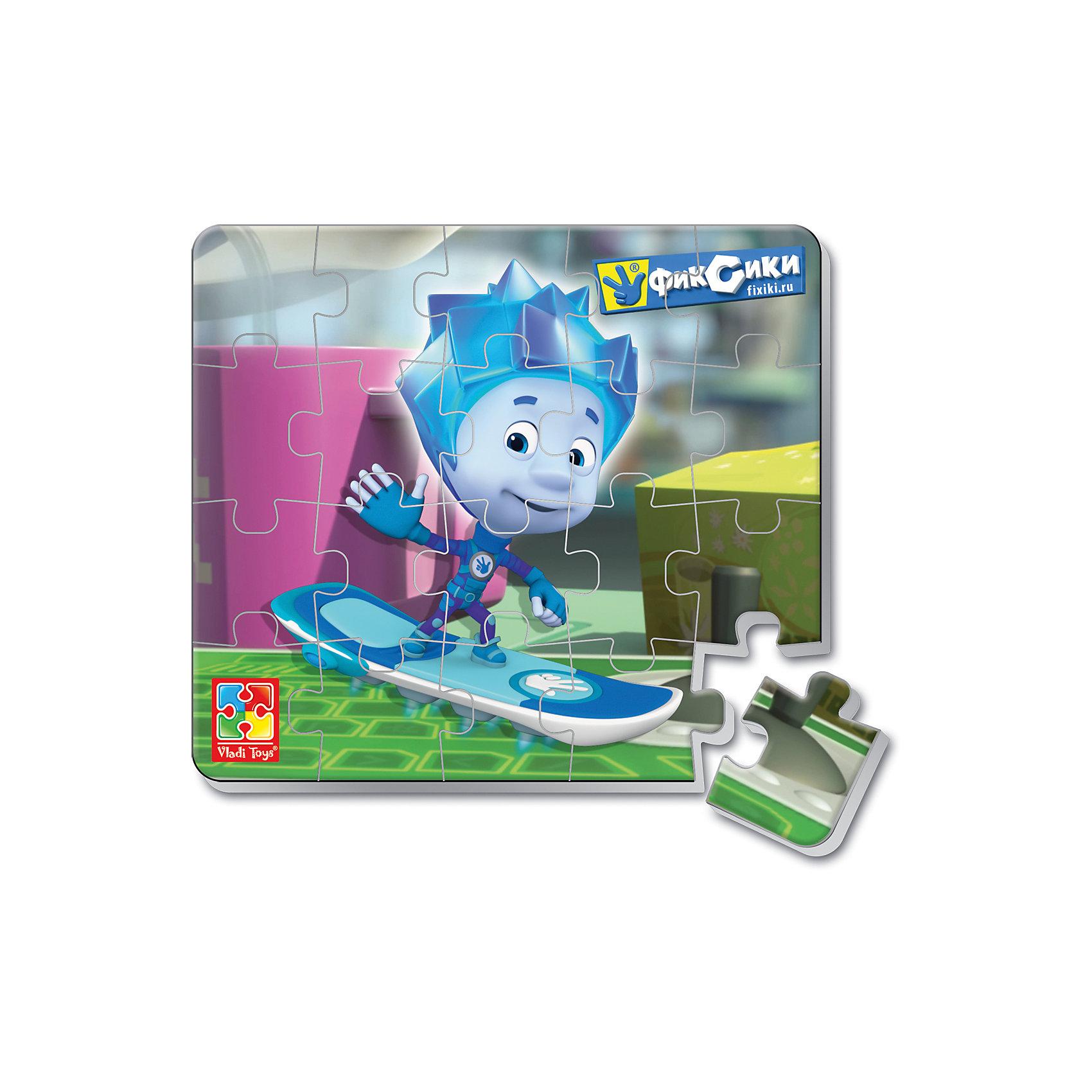 Мягкие магнитные пазлы в стакане Нолик, Фиксики, Vladi ToysКоличество деталей<br>Характеристики:<br><br>• Вид игр: развивающие<br>• Серия: пазлы-магниты<br>• Пол: универсальный<br>• Материал: полимер, картон, магнит<br>• Цвет: голубой, желтый, зеленый и др.<br>• Комплектация: 1 пазл из 20-ти элементов, магнит<br>• Размеры (Д*Ш*В): 7,5*7,5*11 см<br>• Тип упаковки: пластиковый стаканчик<br>• Вес: 37 г<br><br>Мягкие магнитные пазлы в стакане Нолик, Фиксики, Vladi Toys, производителем которых является компания, специализирующаяся на выпуске развивающих игр, давно уже стали популярными среди аналогичной продукции. Мягкие пазлы – идеальное решение для развивающих занятий с самыми маленькими детьми, так как они разделены на большие элементы с крупными изображениями, чаще всего в качестве картинок используются герои популярных мультсериалов. Самое важное в пазле для малышей – это минимум деталей и безопасность элементов. Все используемые в производстве материалы являются экологически безопасными, не вызывают аллергии, не имеют запаха. Мягкие магнитные пазлы в стакане Нолик, Фиксики, Vladi Toys представляют собой сюжетную картинку, которая состоит из 20-и магнитных элементов с изображением Нолика. <br>Занятия с мягкими пазлами от Vladi Toys способствуют развитию не только мелкой моторики, но и внимательности, усидчивости, терпению при достижении цели. Кроме того, по собранной картинке можно составлять рассказ, что позволит развивать речевые навыки, память и воображение.<br><br>Мягкие магнитные пазлы в стакане Нолик, Фиксики, Vladi Toys можно купить в нашем интернет-магазине.<br><br>Ширина мм: 75<br>Глубина мм: 75<br>Высота мм: 110<br>Вес г: 37<br>Возраст от месяцев: 24<br>Возраст до месяцев: 60<br>Пол: Унисекс<br>Возраст: Детский<br>SKU: 5136097