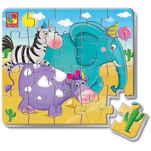 Мягкие магнитные пазлы в стакане Зверята, Vladi ToysПазлы для малышей<br>Характеристики:<br><br>• Вид игр: развивающие<br>• Серия: пазлы-магниты<br>• Пол: универсальный<br>• Материал: полимер, картон, магнит<br>• Цвет: голубой, сиреневый, черный, белый, желтый и др.<br>• Комплектация: 1 пазл из 20-ти элементов, магнит<br>• Размеры (Д*Ш*В): 7,5*7,5*11 см<br>• Тип упаковки: пластиковый стаканчик<br>• Вес: 37 г<br><br>Мягкие магнитные пазлы в стакане Зверята, Vladi Toys, производителем которых является компания, специализирующаяся на выпуске развивающих игр, давно уже стали популярными среди аналогичной продукции. Мягкие пазлы – идеальное решение для развивающих занятий с самыми маленькими детьми, так как они разделены на большие элементы с крупными изображениями, чаще всего в качестве картинок используются герои популярных мультсериалов. Самое важное в пазле для малышей – это минимум деталей и безопасность элементов. Все используемые в производстве материалы являются экологически безопасными, не вызывают аллергии, не имеют запаха. Мягкие магнитные пазлы в стакане Зверята, Vladi Toys представляют собой сюжетную картинку, которая состоит из 20-и магнитных элементов с изображением слона, зебры и коровы. <br>Занятия с мягкими пазлами от Vladi Toys способствуют развитию не только мелкой моторики, но и внимательности, усидчивости, терпению при достижении цели. Кроме того, по собранной картинке можно составлять рассказ, что позволит развивать речевые навыки, память и воображение.<br><br>Мягкие магнитные пазлы в стакане Зверята, Vladi Toys можно купить в нашем интернет-магазине.<br>Ширина мм: 75; Глубина мм: 75; Высота мм: 110; Вес г: 37; Возраст от месяцев: 24; Возраст до месяцев: 60; Пол: Унисекс; Возраст: Детский; SKU: 5136099;