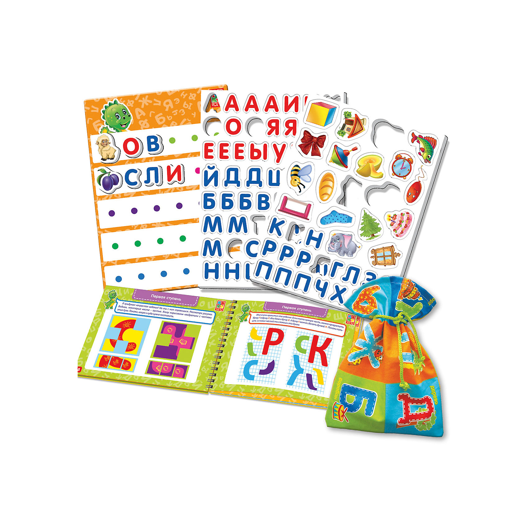 Настольная игра Больше чем Азбука, Vladi ToysИгры для дошкольников<br>Характеристики:<br><br>• Вид игр: обучающие, развивающие<br>• Серия: Настольные игры<br>• Пол: универсальный<br>• Материал: картон, пластик, текстиль, магнит<br>• Цвет: голубой, красный, оранжевый, зеленый, желтый и др.<br>• Комплектация: магнитная доска, декоративные наклейки, 73 магнитные буквы, 19 магнитных картинок, игровой кубик, методическое пособие с заданиями, текстильный мешочек<br>• Размеры упаковки (Д*Ш*В): 39,5*7,5*30 см<br>• Тип упаковки: картонный чемоданчик<br>• Вес в упаковке: 950 г<br>• Предусмотрено несколько вариантов игр<br>• Возможность вариации заданий по сложности <br><br><br>Настольная игра Больше чем Азбука, Vladi Toys, производителем которых является компания, специализирующаяся на выпуске развивающих игр, давно уже стали популярными среди аналогичной продукции. Развивающие настольные игры являются эффективным способом развития и обучения ребенка. Игра Больше чем Азбука отличается комплексным подходом к подготовке ребенка к школе: в ней предусмотрены игры и задания разного уровня сложности. Все элементы отличаются яркостью красок и наглядностью. Все используемые в производстве материалы являются экологически безопасными, не вызывают аллергии, не имеют запаха. Набор состоит из магнитной доски, набора из 73 букв с мешочком для их хранения, декоративных наклеек и 19 магнитных картинок. В комплекте предусмотрено пособие с разноуровневыми заданиями с главным героем динозавриком Тимой.<br>Занятия с настольной игрой Больше чем Азбука, Vladi Toys позволят в легкой игровой форме выучить буквы и звуки, составлять слова и предложения, развивать воображение и обогатить словарный запас ребенка.<br><br>Настольную игру Больше чем Азбука, Vladi Toys можно купить в нашем интернет-магазине.<br><br>Ширина мм: 395<br>Глубина мм: 70<br>Высота мм: 300<br>Вес г: 950<br>Возраст от месяцев: 24<br>Возраст до месяцев: 84<br>Пол: Унисекс<br>Возраст: Детский<br>SKU: 5136104