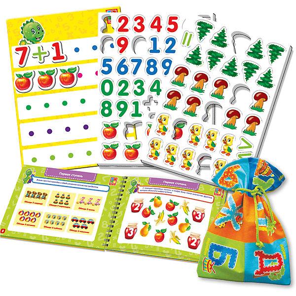 Настольная игра Больше чем Математика, Vladi ToysОкружающий мир<br>Характеристики:<br><br>• Вид игр: обучающие, развивающие<br>• Серия: Настольные игры<br>• Пол: универсальный<br>• Материал: картон, пластик, текстиль, магнит<br>• Цвет: голубой, красный, оранжевый, зеленый, желтый и др.<br>• Комплектация: магнитная доска, декоративные наклейки, 30 магнитных цифр, 13 магнитных математических знаков, 40 магнитных картинок, игровой кубик, методическое пособие с заданиями, текстильный мешочек<br>• Размеры упаковки (Д*Ш*В): 39,5*7,1*30 см<br>• Тип упаковки: картонный чемоданчик<br>• Вес в упаковке: 950 г<br>• Предусмотрено несколько вариантов игр<br>• Возможность вариации заданий по сложности <br><br>Настольная игра Больше чем Математика, Vladi Toys, производителем которых является компания, специализирующаяся на выпуске развивающих игр, давно уже стали популярными среди аналогичной продукции. Развивающие настольные игры являются эффективным способом развития и обучения ребенка. Игра Больше чем Математика отличается комплексным подходом к подготовке ребенка к школе: в ней предусмотрены игры и задания разного уровня сложности. Все элементы отличаются яркостью красок и наглядностью. Все используемые в производстве материалы являются экологически безопасными, не вызывают аллергии, не имеют запаха. Набор состоит из магнитной доски, набора из 30 цифр и 13 знаков с мешочком для их хранения, декоративных наклеек и 40 магнитных картинок. В комплекте предусмотрено пособие с разноуровневыми заданиями с главным героем динозавриком Тимой.<br>Занятия с настольной игрой Больше чем Математика, Vladi Toys позволят в легкой игровой форме выучить цифры, решать примеры, развивать воображение и обогатить словарный запас ребенка.<br><br>Настольную игру Больше чем Математика, Vladi Toys можно купить в нашем интернет-магазине.<br>Ширина мм: 395; Глубина мм: 71; Высота мм: 300; Вес г: 950; Возраст от месяцев: 24; Возраст до месяцев: 84; Пол: Унисекс; Возраст: Детский; SKU: 5136105;