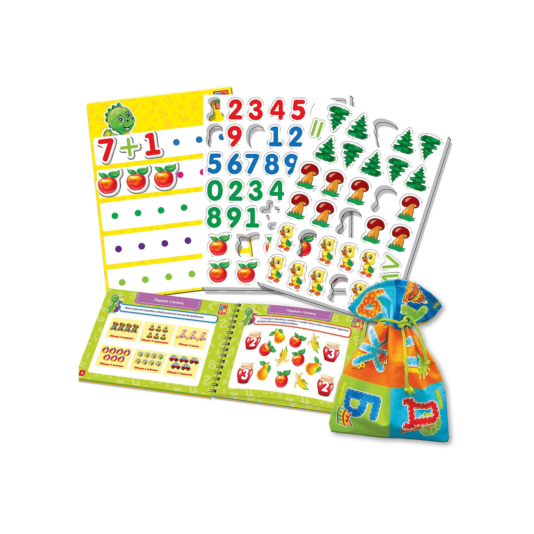 Настольная игра Больше чем Математика, Vladi ToysРазвивающие игры<br>Характеристики:<br><br>• Вид игр: обучающие, развивающие<br>• Серия: Настольные игры<br>• Пол: универсальный<br>• Материал: картон, пластик, текстиль, магнит<br>• Цвет: голубой, красный, оранжевый, зеленый, желтый и др.<br>• Комплектация: магнитная доска, декоративные наклейки, 30 магнитных цифр, 13 магнитных математических знаков, 40 магнитных картинок, игровой кубик, методическое пособие с заданиями, текстильный мешочек<br>• Размеры упаковки (Д*Ш*В): 39,5*7,1*30 см<br>• Тип упаковки: картонный чемоданчик<br>• Вес в упаковке: 950 г<br>• Предусмотрено несколько вариантов игр<br>• Возможность вариации заданий по сложности <br><br>Настольная игра Больше чем Математика, Vladi Toys, производителем которых является компания, специализирующаяся на выпуске развивающих игр, давно уже стали популярными среди аналогичной продукции. Развивающие настольные игры являются эффективным способом развития и обучения ребенка. Игра Больше чем Математика отличается комплексным подходом к подготовке ребенка к школе: в ней предусмотрены игры и задания разного уровня сложности. Все элементы отличаются яркостью красок и наглядностью. Все используемые в производстве материалы являются экологически безопасными, не вызывают аллергии, не имеют запаха. Набор состоит из магнитной доски, набора из 30 цифр и 13 знаков с мешочком для их хранения, декоративных наклеек и 40 магнитных картинок. В комплекте предусмотрено пособие с разноуровневыми заданиями с главным героем динозавриком Тимой.<br>Занятия с настольной игрой Больше чем Математика, Vladi Toys позволят в легкой игровой форме выучить цифры, решать примеры, развивать воображение и обогатить словарный запас ребенка.<br><br>Настольную игру Больше чем Математика, Vladi Toys можно купить в нашем интернет-магазине.<br><br>Ширина мм: 395<br>Глубина мм: 71<br>Высота мм: 300<br>Вес г: 950<br>Возраст от месяцев: 24<br>Возраст до месяцев: 84<br>Пол: Унисекс<br>Возраст: Детский<br>SKU: 