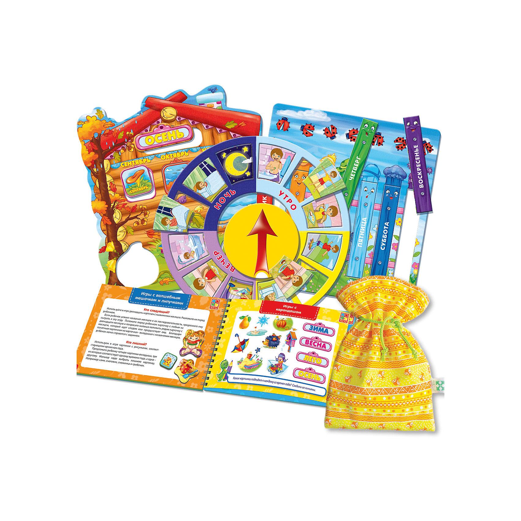 Настольная игра Больше чем Календарь для малыша, Vladi ToysРазвивающие игры<br>Характеристики:<br><br>• Вид игр: обучающие, развивающие<br>• Серия: Настольные игры<br>• Пол: универсальный<br>• Материал: картон, пластик, текстиль, магнит<br>• Цвет: голубой, красный, оранжевый, зеленый, желтый и др.<br>• Комплектация: 4 двусторонних игровых поля, 20 картинок, 48 липучек, игровой кубик, методическое пособие с заданиями, текстильный мешочек<br>• Размеры упаковки (Д*Ш*В): 39,5*7,3*30 см<br>• Тип упаковки: картонный чемоданчик<br>• Вес в упаковке: 870 г<br>• Предусмотрено несколько вариантов игр<br>• Возможность вариации заданий по сложности <br><br>Настольная игра Больше чем Календарь для малыша, Vladi Toys, производителем которых является компания, специализирующаяся на выпуске развивающих игр, давно уже стали популярными среди аналогичной продукции. Развивающие настольные игры являются эффективным способом развития и обучения ребенка. Игра Больше чем Календарь для малыша отличается комплексным подходом к подготовке ребенка к школе: в ней предусмотрены игры и задания разного уровня сложности. Все элементы отличаются яркостью красок и наглядностью. Все используемые в производстве материалы являются экологически безопасными, не вызывают аллергии, не имеют запаха. Набор состоит из 4 двухсторонних игровых поля, 20 деталей, 48 липучек с мешочком для их хранения и декоративных наклеек. В комплекте предусмотрено пособие с разноуровневыми заданиями с главным героем динозавриком Тимой.<br>Занятия с настольной игрой Больше чем Календарь для малыша, Vladi Toys позволят в легкой игровой форме познакомиться ребенку с окружающим миром и разнообразием природных явлений, расширив тем самым свой кругозор и словарных запас слов.<br><br>Настольную игру Больше чем Календарь для малыша, Vladi Toys можно купить в нашем интернет-магазине.<br><br>Ширина мм: 395<br>Глубина мм: 73<br>Высота мм: 300<br>Вес г: 870<br>Возраст от месяцев: 24<br>Возраст до месяцев: 84<br>Пол: Унисекс<br>Возраст: Детс