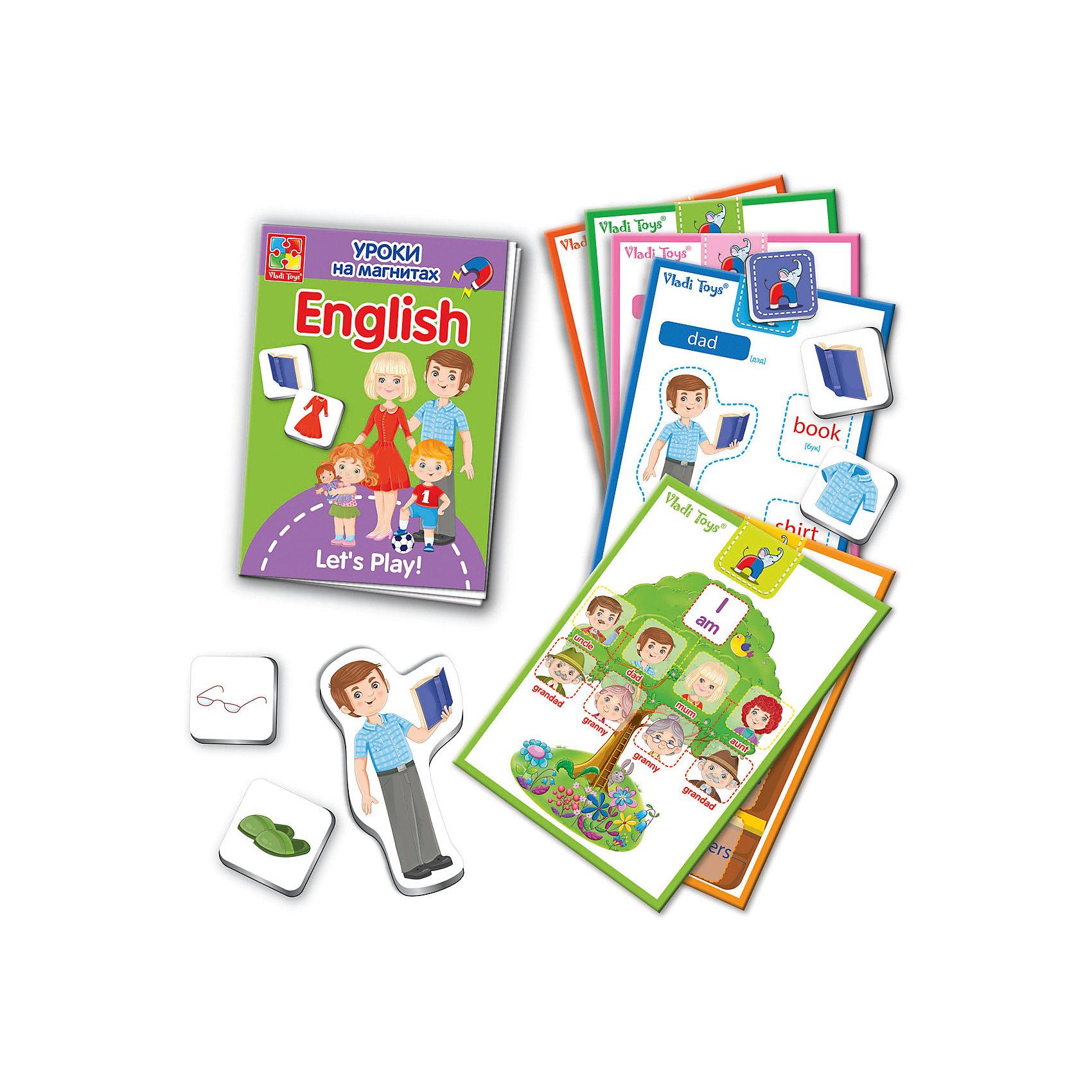 Vladi Toys Уроки на магнитах English Семья, Vladi Toys mastering english prepositions