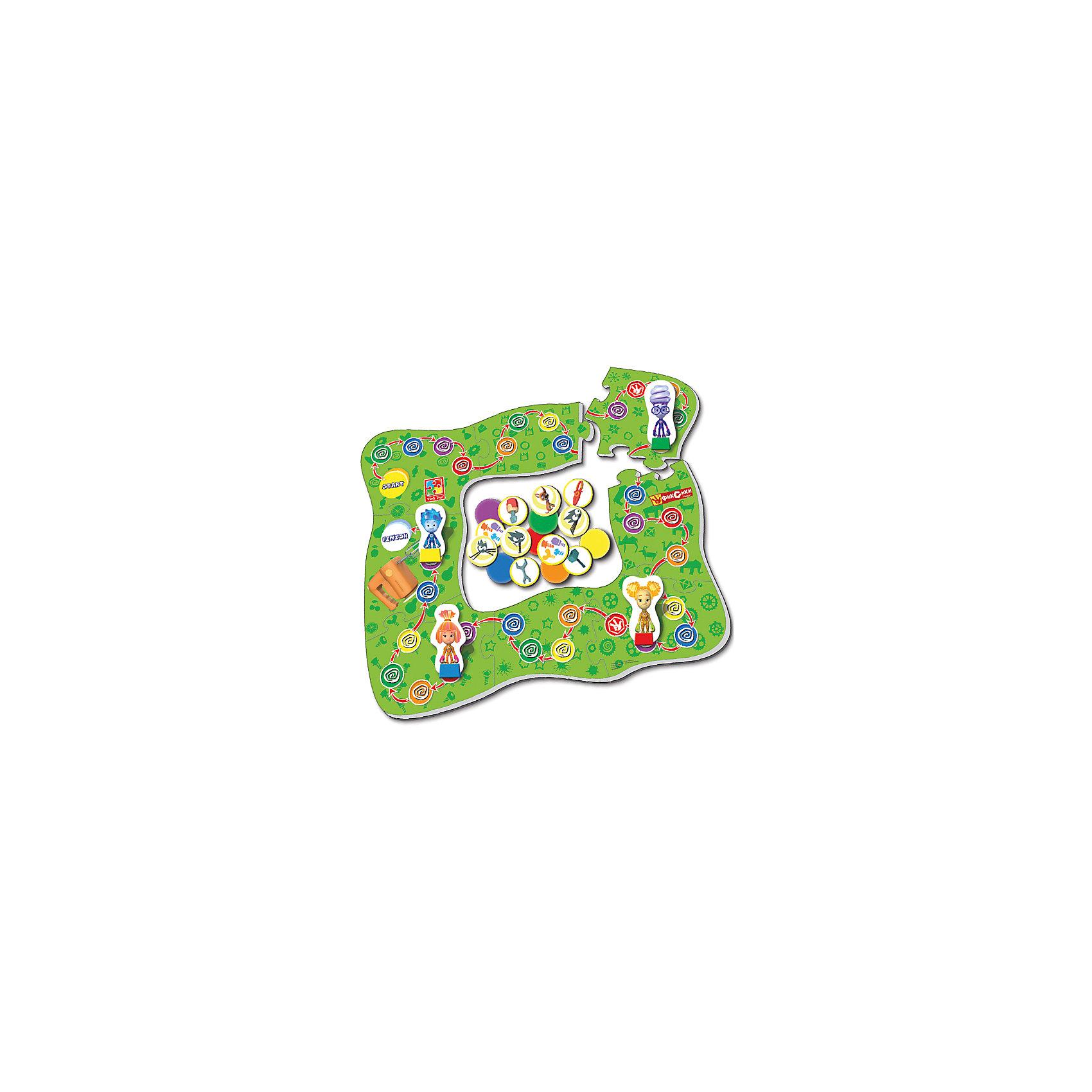 Настольная игра-ходилка Миксер, Фиксики, Vladi ToysПопулярные игрушки<br>Характеристики:<br><br>• Вид игр: обучающие, развивающие<br>• Серия: настольные игры<br>• Пол: универсальный<br>• Материал: картон<br>• Цвет: зеленый, синий, красный, желтый и др.<br>• Комплектация: игровое поле, фишки, игральный кубик, инструкция с правилами игры<br>• Размеры упаковки (Д*Ш*В): 28*5*25 см<br>• Тип упаковки: картонная коробка<br>• Вес в упаковке: 475 г<br><br>Настольная игра-ходилка Миксер, Фиксики, Vladi Toys, производителем которых является компания, специализирующаяся на выпуске развивающих игр, давно уже стали популярными среди аналогичной продукции. Развивающие настольные игры являются эффективным способом развития и обучения ребенка. При производстве настольных игр от Vladi Toys используются только экологически безопасные материалы, которые не вызывают аллергии и не имеют запаха. Набор состоит из большого игрового поля с изображением персонажей сериала Фиксики. Цель игры заключается в том, чтобы собрать как можно раньше других игроков инструменты для ремонта миксера и добраться до финиша. Сложность заключается в том, что на пути возникают различные препятствия, которые необходимо преодолеть. Все игровые элементы набора отличаются яркостью красок и наглядностью. <br>Настольная игра-ходилка Миксер, Фиксики, Vladi Toys позволит организовать веселый и полезный досуг вашего ребенка, научит внимательности и логическому мышлению.<br><br>Настольную игру-ходилку Миксер, Фиксики, Vladi Toys можно купить в нашем интернет-магазине.<br><br>Ширина мм: 280<br>Глубина мм: 50<br>Высота мм: 250<br>Вес г: 475<br>Возраст от месяцев: 24<br>Возраст до месяцев: 84<br>Пол: Унисекс<br>Возраст: Детский<br>SKU: 5136125