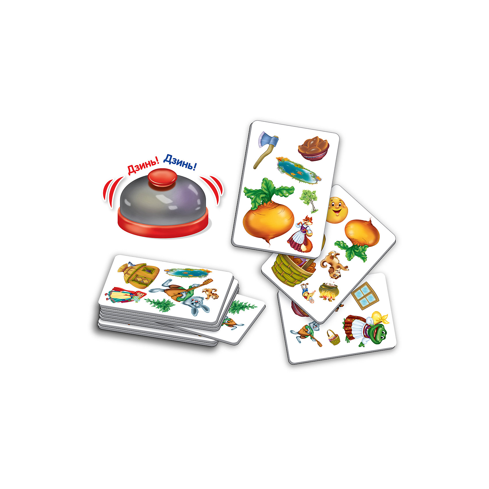 Игра со звонком  Путаница, Vladi ToysХарактеристики:<br><br>• Вид игр: обучающие, развивающие<br>• Серия: настольные игры<br>• Пол: универсальный<br>• Материал: картон<br>• Цвет: желтый, зеленый, красный и др.<br>• Комплектация: 32 игральные карточки, звонок, инструкция с правилами игр<br>• Размеры упаковки (Д*Ш*В): 18*5*22,6 см<br>• Тип упаковки: картонная коробка<br>• Вес в упаковке: 252 г<br>• Предусмотрено 3 варианта игры<br><br>Игра со звонком Путаница, Vladi Toys, производителем которых является компания, специализирующаяся на выпуске развивающих игр, давно уже стали популярными среди аналогичной продукции. Развивающие настольные игры являются эффективным способом развития и обучения ребенка. При производстве настольных игр от Vladi Toys используются только экологически безопасные материалы, которые не вызывают аллергии и не имеют запаха. Набор состоит из 32 карточек с изображением сказочных персонажей и звонка. Все игровые элементы набора отличаются яркостью красок и наглядностью. <br>Игра со звонком Путаница, Vladi Toys позволит организовать веселый и полезный досуг вашего ребенка, научит внимательности, быстроте реагирования, смекалке и логическому мышлению, а также будет способствовать развитию памяти.<br><br>Игру со звонком Путаница, Vladi Toys можно купить в нашем интернет-магазине.<br><br>Ширина мм: 180<br>Глубина мм: 50<br>Высота мм: 226<br>Вес г: 252<br>Возраст от месяцев: 24<br>Возраст до месяцев: 84<br>Пол: Унисекс<br>Возраст: Детский<br>SKU: 5136133