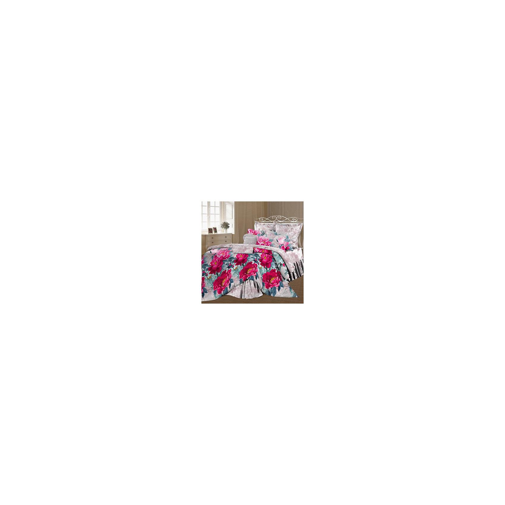 Постельное белье 2,0 Царство пионов, перкаль, РомантикаДомашний текстиль<br>Характеристики товара:<br><br>• материал: хлопок;<br>• пододеяльник 215х175 см<br>• простыня 220х240 см<br>• 2 наволочки 70х70 см;<br>• размер упаковки 50х50х15 см;<br>• вес упаковки 1,4 кг;<br>• страна производитель: Россия.<br><br>Постельное белье 2-спальное «Царство пионов» перкаль Романтика обеспечит уютный и спокойный сон. Комплект изготовлен из мягкого перкаля — хлопчатобумажной ткани особой прочности и износостойкости, приятной на ощупь. Она не вызывает аллергических реакций, не линяет и не теряет цвет после стирки.<br><br>Постельное белье 2-спальное «Царство пионов» перкаль Романтика можно приобрести в нашем интернет-магазине.<br><br>Ширина мм: 500<br>Глубина мм: 500<br>Высота мм: 150<br>Вес г: 1415<br>Возраст от месяцев: 216<br>Возраст до месяцев: 1188<br>Пол: Унисекс<br>Возраст: Детский<br>SKU: 5136363