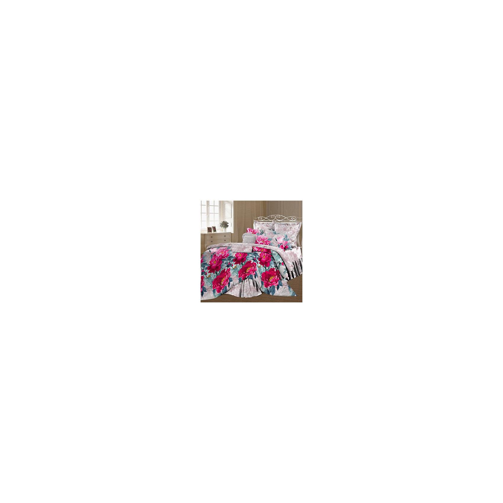 Постельное белье Евро Царство пионов, перкаль, РомантикаДомашний текстиль<br>Характеристики товара:<br><br>• материал: хлопок;<br>• пододеяльник 215х220 см<br>• простыня 220х240 см<br>• 2 наволочки 70х70 см;<br>• размер упаковки 50х50х15 см;<br>• вес упаковки 1,42 кг;<br>• страна производитель: Россия.<br><br>Постельное белье Евро «Царство пионов» перкаль Романтика обеспечит уютный и спокойный сон. Комплект изготовлен из мягкого перкаля — хлопчатобумажной ткани особой прочности и износостойкости, приятной на ощупь. Она не вызывает аллергических реакций, не линяет и не теряет цвет после стирки.<br><br>Постельное белье Евро «Царство пионов» перкаль Романтика можно приобрести в нашем интернет-магазине.<br><br>Ширина мм: 500<br>Глубина мм: 500<br>Высота мм: 150<br>Вес г: 1427<br>Возраст от месяцев: 216<br>Возраст до месяцев: 1188<br>Пол: Унисекс<br>Возраст: Детский<br>SKU: 5136375