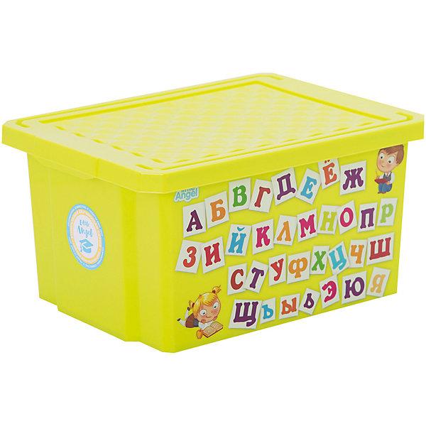 Ящик для хранения игрушек X-BOX Обучайка Азбука 17л, Little Angel, салатовыйЯщики для игрушек<br>Характеристики  ящика для хранения игрушек X-BOX Обучайка Азбука 17л, Little Angel, салатовый:<br><br>- возраст: от 3 лет<br>- пол: для мальчиков и девочек<br>- цвет: салатовый.<br>- материал: полипропилен.<br>- размер упаковки: 79 * 39 * 48.5 см.<br>- размер ящика: 40.5 * 30.5 * 21 см.<br>- вместимость: 17 л.<br>- вес: 0.65 кг.<br>- бренд: Little Angel<br>- страна обладатель бренда: Россия.<br><br>Детский ящик для хранения игрушек X-Box Обучайка Азбука торговой  марки Little Angel представляет собой очень легкую и удобную в эксплуатации емкость яркого салатового цвета. На одной стороне ящика есть красочное изображение в виде иллюстрированных карточек с буквами, которые помогут Вашему малышу быстрее запомнить буквы в игровой форме.<br><br>Детский ящик для хранения игрушек X-Box Обучайка Азбука торговой  марки Little Angel можно купить в нашем интернет-магазине.<br><br>Ширина мм: 405<br>Глубина мм: 305<br>Высота мм: 210<br>Вес г: 733<br>Возраст от месяцев: 24<br>Возраст до месяцев: 72<br>Пол: Унисекс<br>Возраст: Детский<br>SKU: 5136377