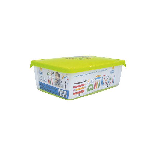 Ящик для хранения сокровищ Мои сокровища 5 л., Little Angel, салатовыйЯщики для игрушек<br>Характеристики ящика для хранения сокровищ Мои сокровища, Little Angel, салатовый:<br><br>- возраст: от 3 лет<br>- пол: для мальчиков и девочек<br>- цвет: фисташковый, синий<br>- материал: полипропилен.<br>- размер упаковки: 41* 29.5 * 21.5 см.<br>- размер ящика: 40.5  * 30.5 * 21 см.<br>- вместимость: 5 л.<br>- вес: 0,83 кг.<br>- бренд: Little Angel<br>- страна обладатель бренда: Россия.<br><br>Детский ящик для хранения Мои сокровища торговой марки Little Angel фисташкового цвета и поможет Вашему малышу всегда поддерживать свою комнату в порядке, ведь в него можно убрать почти все игрушки, разбросанные по комнате. Убирать игрушку в яркий ящик малышу будет совсем не сложно, и таким образом Вы сможете приучить его к самостоятельности. Ящика  не имеет острых углов, которые могли бы поцарапать или поранить малыша.<br><br>Детский ящик для хранения Мои сокровища торговой марки Little Angel можно купить в нашем интернет-магазине.<br><br>Ширина мм: 250<br>Глубина мм: 140<br>Высота мм: 70<br>Вес г: 100<br>Возраст от месяцев: 24<br>Возраст до месяцев: 72<br>Пол: Унисекс<br>Возраст: Детский<br>SKU: 5136380