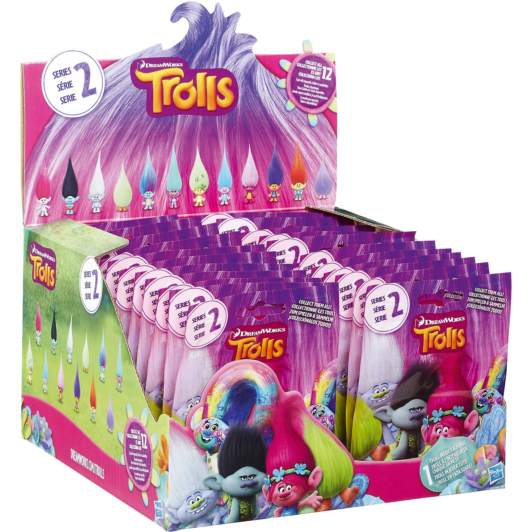 Фигурка Тролля в закрытой упаковке, ТроллиТролли Игрушки<br>Фигурка Тролля (Trolls) в закрытой упаковке от Hasbro представляет собой игрушку-сюрприз. Никогда не знаешь заранее, какой именно персонаж попадется в очередном фольгированном пакетике! У мини-фигурок разный дизайн, однако одна характерная особенность их все-таки объединяет. Речь идет о реалистичных волосах, которые ребенок сможет расчесывать, создавая для своих игрушек абсолютно новые и оригинальные прически.<br>Несмотря на свой малый размер, минифигурки троллей(Trolls) маркиHasbro неплохо детализированы. Пусть они и не могут похвастать подвижными ручками или ножками, зато позы, в которых застыли маленькие тролли, весьма эффектны. Изготовлены игрушки из высококачественного пластика.<br>Внимание!Игрушки представлены в ассортименте, цена указана за 1 пакетик с 1 фигуркой внутри. Без возможности выбора (игрушка-сюрприз). Всего в коллекции 12 фигурок разных персонажей<br><br>Ширина мм: 70<br>Глубина мм: 120<br>Высота мм: 120<br>Вес г: 30<br>Возраст от месяцев: 48<br>Возраст до месяцев: 192<br>Пол: Унисекс<br>Возраст: Детский<br>SKU: 5137213