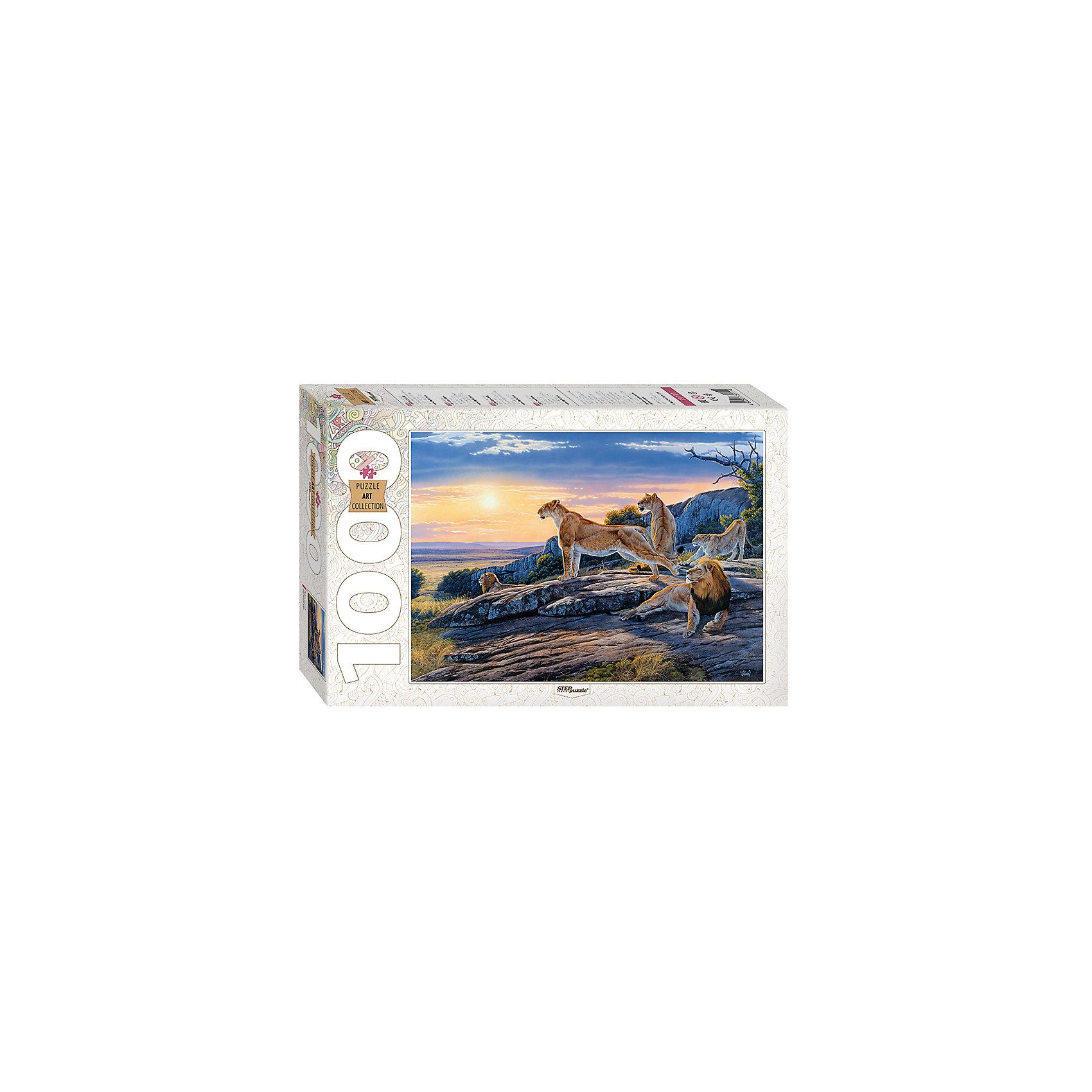 Пазл Перед охотой, 1000 деталей, Step PuzzleПазлы для детей постарше<br>Характеристики товара:<br><br>- цвет: разноцветный;<br>- материал: картон;<br>- деталей: 1000;<br>- высокая точность подгонки элементов;<br>- отличное качество печати;<br>- упаковка: коробка.<br><br>Собирать пазлы любят и дети, и взрослые! Это занятие может не только позволять весело проводить время, но и помогать всестороннему развитию ребенка. Изделие представляет собой детали, из которых нужно собрать очень красивую картинку. Все детали отлично проработаны, готовое изображение можно даже зафиксировать на бумаге и украсить им интерьер!<br>Собирание пазлов поможет формированию разных навыков, оно помогает развить тактильное восприятие, мелкую моторику, воображение, внимание и логику. Изделие произведено из качественных материалов, безопасных для ребенка. Набор станет отличным подарком детям!<br><br>Пазл Перед охотой, 1000 деталей, от бренда Step Puzzle можно купить в нашем интернет-магазине.<br><br>Ширина мм: 400<br>Глубина мм: 270<br>Высота мм: 55<br>Вес г: 780<br>Возраст от месяцев: 84<br>Возраст до месяцев: 180<br>Пол: Унисекс<br>Возраст: Детский<br>SKU: 5138169