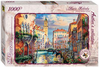 Степ Пазл Пазл Венеция перед закатом , 1000 деталей, Step Puzzle