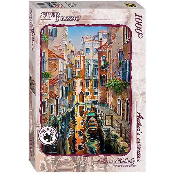 Пазл  Солнечная аллея в Венеции, 1000 деталей, Step PuzzleПазлы классические<br>Характеристики товара:<br><br>- цвет: разноцветный;<br>- материал: картон;<br>- деталей: 1000;<br>- высокая точность подгонки элементов;<br>- отличное качество печати;<br>- упаковка: коробка.<br><br>Собирать пазлы любят и дети, и взрослые! Это занятие может не только позволять весело проводить время, но и помогать всестороннему развитию ребенка. Изделие представляет собой детали, из которых нужно собрать очень красивую картинку. Все детали отлично проработаны, готовое изображение можно даже зафиксировать на бумаге и украсить им интерьер!<br>Собирание пазлов поможет формированию разных навыков, оно помогает развить тактильное восприятие, мелкую моторику, воображение, внимание и логику. Изделие произведено из качественных материалов, безопасных для ребенка. Набор станет отличным подарком детям!<br><br>Пазл Солнечная аллея в Венеции, 1000 деталей, от бренда Step Puzzle можно купить в нашем интернет-магазине.<br>Ширина мм: 400; Глубина мм: 270; Высота мм: 55; Вес г: 780; Возраст от месяцев: 84; Возраст до месяцев: 180; Пол: Унисекс; Возраст: Детский; SKU: 5138178;