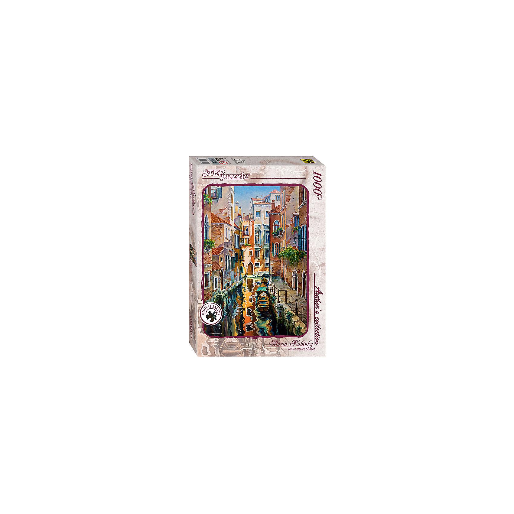 Пазл  Солнечная аллея в Венеции, 1000 деталей, Step PuzzleХарактеристики товара:<br><br>- цвет: разноцветный;<br>- материал: картон;<br>- деталей: 1000;<br>- высокая точность подгонки элементов;<br>- отличное качество печати;<br>- упаковка: коробка.<br><br>Собирать пазлы любят и дети, и взрослые! Это занятие может не только позволять весело проводить время, но и помогать всестороннему развитию ребенка. Изделие представляет собой детали, из которых нужно собрать очень красивую картинку. Все детали отлично проработаны, готовое изображение можно даже зафиксировать на бумаге и украсить им интерьер!<br>Собирание пазлов поможет формированию разных навыков, оно помогает развить тактильное восприятие, мелкую моторику, воображение, внимание и логику. Изделие произведено из качественных материалов, безопасных для ребенка. Набор станет отличным подарком детям!<br><br>Пазл Солнечная аллея в Венеции, 1000 деталей, от бренда Step Puzzle можно купить в нашем интернет-магазине.<br><br>Ширина мм: 400<br>Глубина мм: 270<br>Высота мм: 55<br>Вес г: 780<br>Возраст от месяцев: 84<br>Возраст до месяцев: 180<br>Пол: Унисекс<br>Возраст: Детский<br>SKU: 5138178
