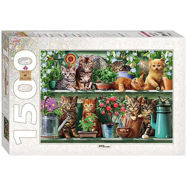 Пазл Котята (new), 1500 деталей, Step PuzzleПазлы классические<br>Характеристики товара:<br><br>- цвет: разноцветный;<br>- материал: картон;<br>- деталей: 1500;<br>- высокая точность подгонки элементов;<br>- отличное качество печати;<br>- упаковка: коробка.<br><br>Собирать пазлы любят и дети, и взрослые! Это занятие может не только позволять весело проводить время, но и помогать всестороннему развитию ребенка. Изделие представляет собой детали, из которых нужно собрать очень красивую картинку. Все детали отлично проработаны, готовое изображение можно даже зафиксировать на бумаге и украсить им интерьер!<br>Собирание пазлов поможет формированию разных навыков, оно помогает развить тактильное восприятие, мелкую моторику, воображение, внимание и логику. Изделие произведено из качественных материалов, безопасных для ребенка. Набор станет отличным подарком детям!<br><br>Пазл Котята (new), 1500 деталей, от бренда Step Puzzle можно купить в нашем интернет-магазине.<br><br>Ширина мм: 400<br>Глубина мм: 270<br>Высота мм: 55<br>Вес г: 960<br>Возраст от месяцев: 84<br>Возраст до месяцев: 180<br>Пол: Женский<br>Возраст: Детский<br>SKU: 5138180