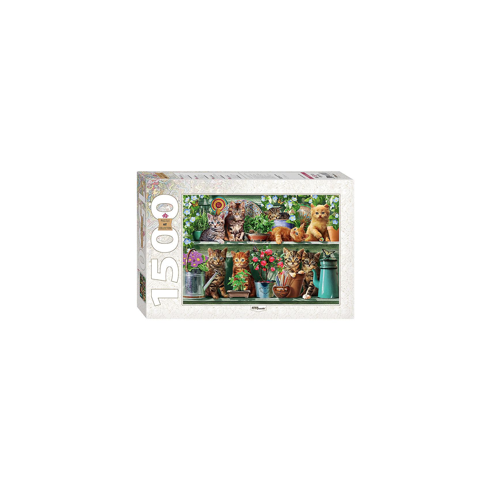 Пазл Котята (new), 1500 деталей, Step PuzzleКоличество деталей<br>Характеристики товара:<br><br>- цвет: разноцветный;<br>- материал: картон;<br>- деталей: 1500;<br>- высокая точность подгонки элементов;<br>- отличное качество печати;<br>- упаковка: коробка.<br><br>Собирать пазлы любят и дети, и взрослые! Это занятие может не только позволять весело проводить время, но и помогать всестороннему развитию ребенка. Изделие представляет собой детали, из которых нужно собрать очень красивую картинку. Все детали отлично проработаны, готовое изображение можно даже зафиксировать на бумаге и украсить им интерьер!<br>Собирание пазлов поможет формированию разных навыков, оно помогает развить тактильное восприятие, мелкую моторику, воображение, внимание и логику. Изделие произведено из качественных материалов, безопасных для ребенка. Набор станет отличным подарком детям!<br><br>Пазл Котята (new), 1500 деталей, от бренда Step Puzzle можно купить в нашем интернет-магазине.<br><br>Ширина мм: 400<br>Глубина мм: 270<br>Высота мм: 55<br>Вес г: 960<br>Возраст от месяцев: 84<br>Возраст до месяцев: 180<br>Пол: Женский<br>Возраст: Детский<br>SKU: 5138180