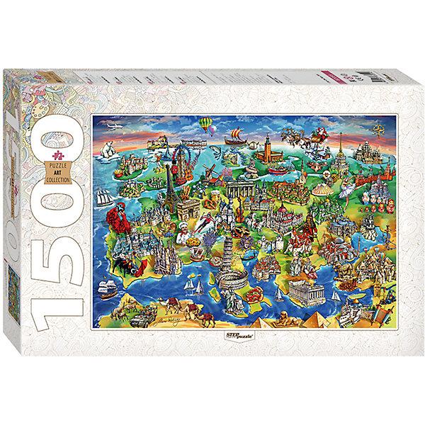 Пазл Достопримечательности Европы, 1500 деталей, Step PuzzleПазлы классические<br>Характеристики товара:<br><br>- цвет: разноцветный;<br>- материал: картон;<br>- деталей: 1500;<br>- высокая точность подгонки элементов;<br>- отличное качество печати;<br>- упаковка: коробка.<br><br>Собирать пазлы любят и дети, и взрослые! Это занятие может не только позволять весело проводить время, но и помогать всестороннему развитию ребенка. Изделие представляет собой детали, из которых нужно собрать очень красивую картинку. Все детали отлично проработаны, готовое изображение можно даже зафиксировать на бумаге и украсить им интерьер!<br>Собирание пазлов поможет формированию разных навыков, оно помогает развить тактильное восприятие, мелкую моторику, воображение, внимание и логику. Изделие произведено из качественных материалов, безопасных для ребенка. Набор станет отличным подарком детям!<br><br>Пазл Достопримечательности Европы, 1500 деталей, от бренда Step Puzzle можно купить в нашем интернет-магазине.<br><br>Ширина мм: 400<br>Глубина мм: 270<br>Высота мм: 55<br>Вес г: 960<br>Возраст от месяцев: 84<br>Возраст до месяцев: 180<br>Пол: Унисекс<br>Возраст: Детский<br>SKU: 5138182