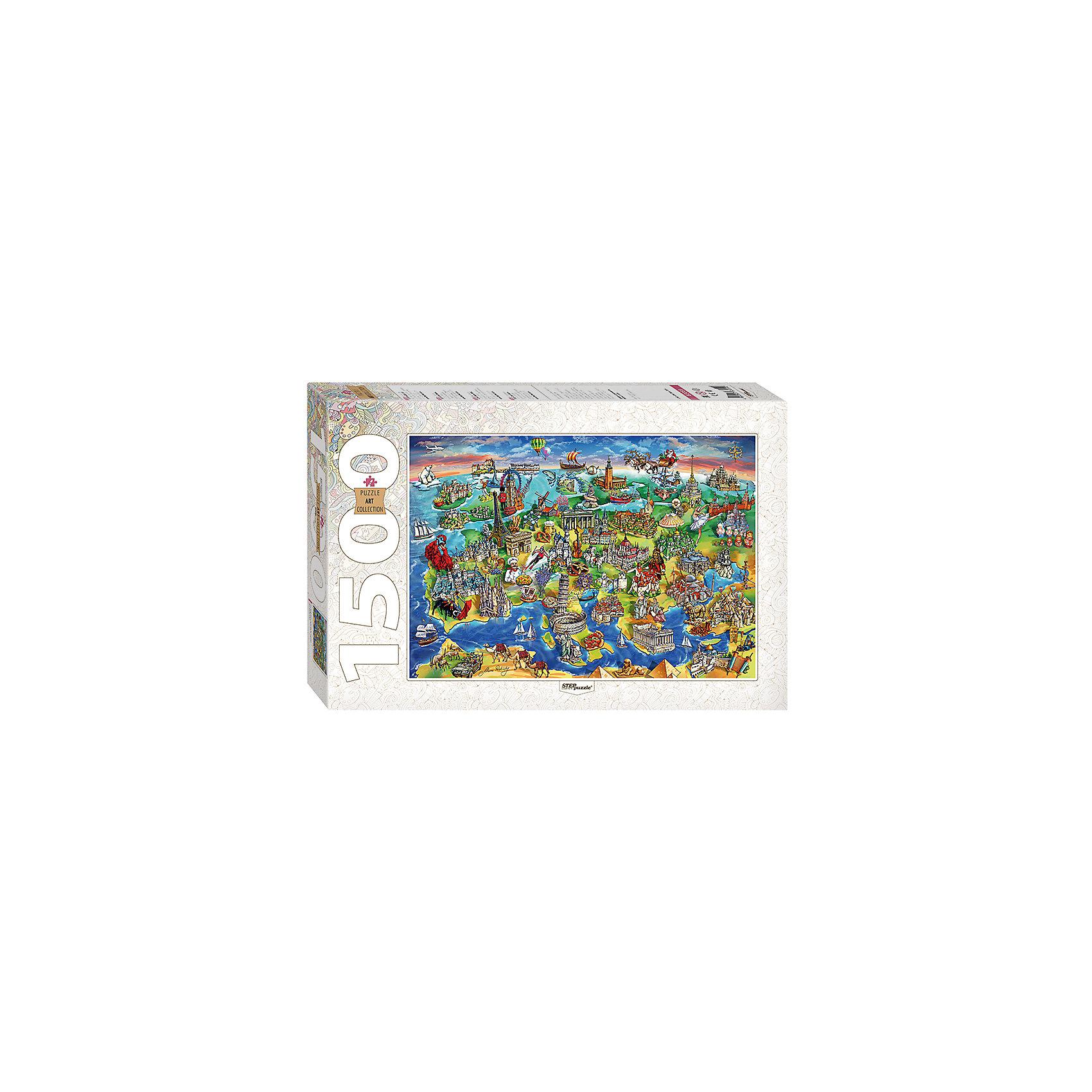 Пазл Достопримечательности Европы, 1500 деталей, Step PuzzleХарактеристики товара:<br><br>- цвет: разноцветный;<br>- материал: картон;<br>- деталей: 1500;<br>- высокая точность подгонки элементов;<br>- отличное качество печати;<br>- упаковка: коробка.<br><br>Собирать пазлы любят и дети, и взрослые! Это занятие может не только позволять весело проводить время, но и помогать всестороннему развитию ребенка. Изделие представляет собой детали, из которых нужно собрать очень красивую картинку. Все детали отлично проработаны, готовое изображение можно даже зафиксировать на бумаге и украсить им интерьер!<br>Собирание пазлов поможет формированию разных навыков, оно помогает развить тактильное восприятие, мелкую моторику, воображение, внимание и логику. Изделие произведено из качественных материалов, безопасных для ребенка. Набор станет отличным подарком детям!<br><br>Пазл Достопримечательности Европы, 1500 деталей, от бренда Step Puzzle можно купить в нашем интернет-магазине.<br><br>Ширина мм: 400<br>Глубина мм: 270<br>Высота мм: 55<br>Вес г: 960<br>Возраст от месяцев: 84<br>Возраст до месяцев: 180<br>Пол: Унисекс<br>Возраст: Детский<br>SKU: 5138182
