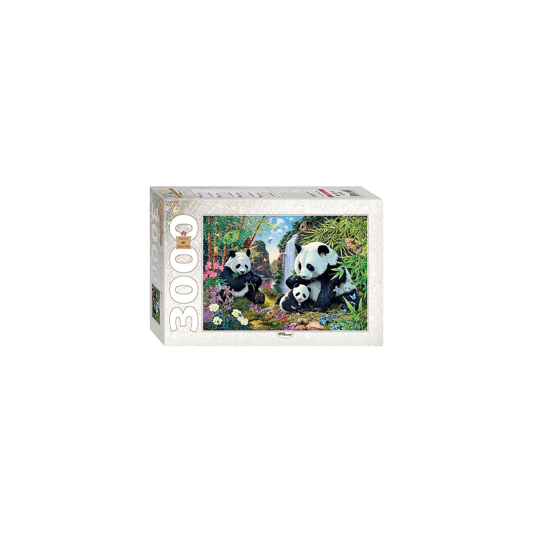 Пазл Панды, 3000 деталей, Step PuzzleПазлы для детей постарше<br>Характеристики товара:<br><br>- цвет: разноцветный;<br>- материал: картон;<br>- деталей: 3000;<br>- высокая точность подгонки элементов;<br>- отличное качество печати;<br>- упаковка: коробка.<br><br>Собирать пазлы любят и дети, и взрослые! Это занятие может не только позволять весело проводить время, но и помогать всестороннему развитию ребенка. Изделие представляет собой детали, из которых нужно собрать очень красивую картинку. Все детали отлично проработаны, готовое изображение можно даже зафиксировать на бумаге и украсить им интерьер!<br>Собирание пазлов поможет формированию разных навыков, оно помогает развить тактильное восприятие, мелкую моторику, воображение, внимание и логику. Изделие произведено из качественных материалов, безопасных для ребенка. Набор станет отличным подарком детям!<br><br>Пазл Панды, 3000 деталей, от бренда Step Puzzle можно купить в нашем интернет-магазине.<br><br>Ширина мм: 400<br>Глубина мм: 270<br>Высота мм: 85<br>Вес г: 2750<br>Возраст от месяцев: 84<br>Возраст до месяцев: 180<br>Пол: Унисекс<br>Возраст: Детский<br>SKU: 5138185