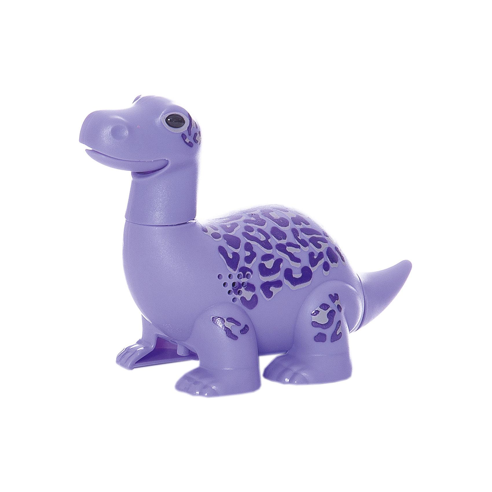 Динозавр Max, фиолетовый, DigiBirdsИнтерактивные животные<br>Характеристики товара:<br><br>- цвет: фиолетовый;<br>- материал: пластик, металл;<br>- батарейки: 3xAG13/LR44, в комплекте;<br>- размер упаковки: 16x13x7 см;<br>- габариты игрушки: 6,5x10x15 см;<br>- умеет петь, рычать, шевелить головой и хвостом.<br><br>Такая игрушка в виде динозавра поможет ребенку весело проводить время - динозавр умеет петь, рычать, шевелить головой и хвостом. Это выглядит очень забавно! Игрушка реагирует на звук от специального свистка, который входит в комплект. Также можно приобрести другие игрушки из этой серии - тогда они будут петь хором!<br>Динозавр способен помогать всестороннему развитию ребенка: развивать тактильное восприятие, мелкую моторику, воображение, внимание и логику. Изделие произведено из качественных материалов, безопасных для ребенка. Набор станет отличным подарком детям!<br><br>Динозавр Max, фиолетовый, от бренда DigiBirds можно купить в нашем интернет-магазине.<br><br>Ширина мм: 115<br>Глубина мм: 15<br>Высота мм: 62<br>Вес г: 128<br>Возраст от месяцев: 36<br>Возраст до месяцев: 84<br>Пол: Унисекс<br>Возраст: Детский<br>SKU: 5138201