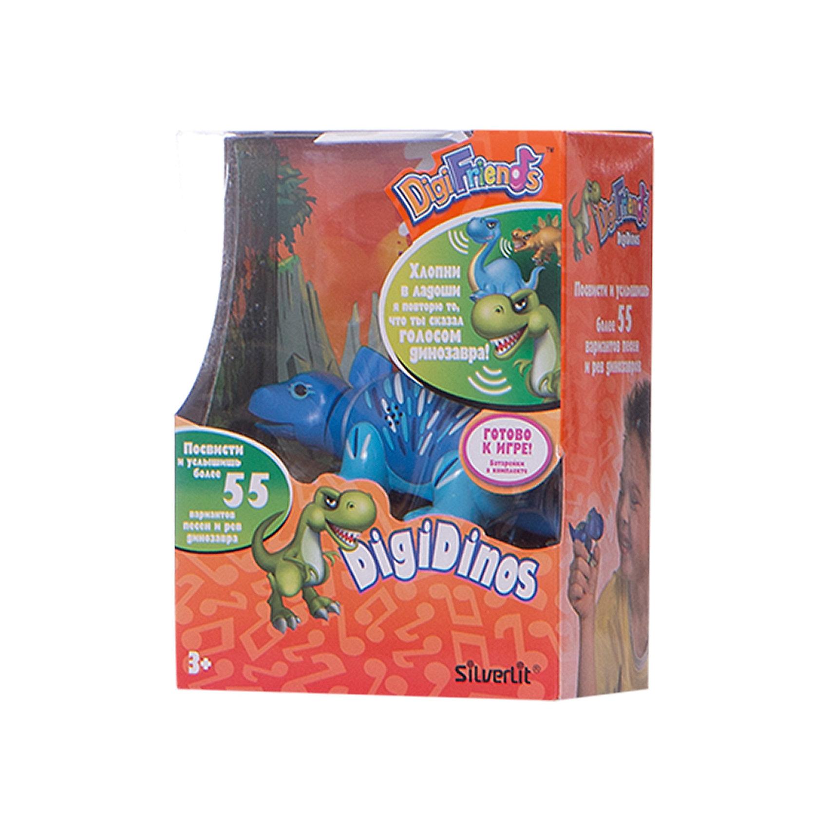Динозавр Simon, синий с голубыми лапами, DigiBirdsИнтерактивные животные<br>Характеристики товара:<br><br>- цвет: синий;<br>- материал: пластик, металл;<br>- батарейки: 3xAG13/LR44, в комплекте;<br>- размер упаковки: 16x13x7 см;<br>- габариты игрушки: 6,5x10x15 см;<br>- умеет петь, рычать, шевелить головой и хвостом.<br><br>Такая игрушка в виде динозавра поможет ребенку весело проводить время - динозавр умеет петь, рычать, шевелить головой и хвостом. Это выглядит очень забавно! Игрушка реагирует на звук от специального свистка, который входит в комплект. Также можно приобрести другие игрушки из этой серии - тогда они будут петь хором!<br>Динозавр способен помогать всестороннему развитию ребенка: развивать тактильное восприятие, мелкую моторику, воображение, внимание и логику. Изделие произведено из качественных материалов, безопасных для ребенка. Набор станет отличным подарком детям!<br><br>Динозавр Simon, синий с голубыми лапами, от бренда DigiBirds можно купить в нашем интернет-магазине.<br><br>Ширина мм: 115<br>Глубина мм: 15<br>Высота мм: 62<br>Вес г: 128<br>Возраст от месяцев: 36<br>Возраст до месяцев: 84<br>Пол: Унисекс<br>Возраст: Детский<br>SKU: 5138203