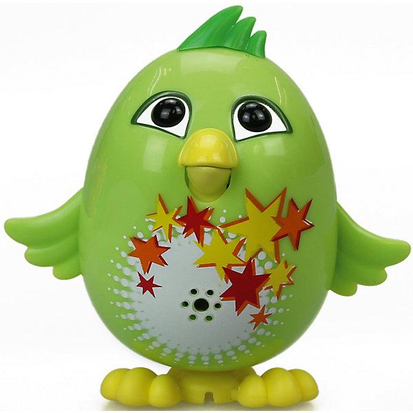 Цыпленок с кольцом Fluff, зеленый, DigiBirdsИнтерактивные животные<br>Характеристики товара:<br><br>- цвет: зеленый;<br>- материал: пластик, металл;<br>- батарейки: 3xAG13/LR44, в комплекте;<br>- размер упаковки: 10x6x15 см;<br>- габариты игрушки: 6 см;<br>- умеет петь.<br><br>Такая игрушка в виде цыпленка поможет ребенку весело проводить время - она умеет петь. Это выглядит очень забавно! Игрушка реагирует на звук от специального свистка, который входит в комплект. Также можно приобрести другие игрушки из этой серии - тогда они будут петь хором!<br>Цыпленок способен помогать всестороннему развитию ребенка: развивать тактильное восприятие, мелкую моторику, воображение, внимание и логику. Изделие произведено из качественных материалов, безопасных для ребенка. Набор станет отличным подарком детям!<br><br>Цыпленка с кольцом Fluff, зеленый, от бренда DigiBirds можно купить в нашем интернет-магазине.<br>Ширина мм: 200; Глубина мм: 102; Высота мм: 152; Вес г: 122; Возраст от месяцев: 36; Возраст до месяцев: 84; Пол: Женский; Возраст: Детский; SKU: 5138206;