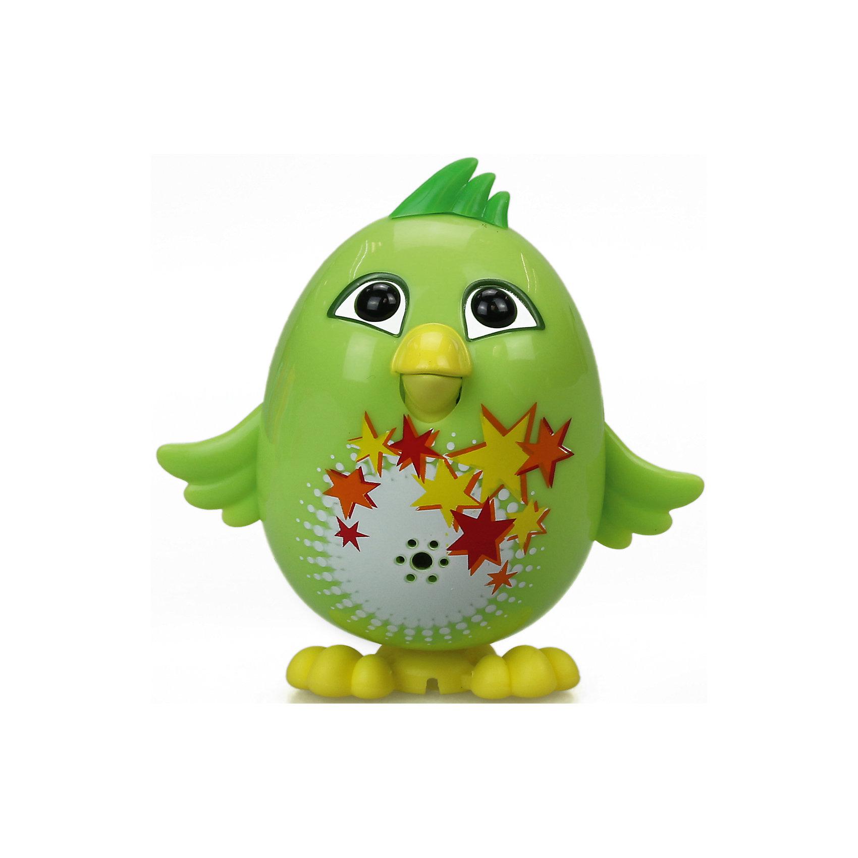 Цыпленок с кольцом Fluff, зеленый, DigiBirds