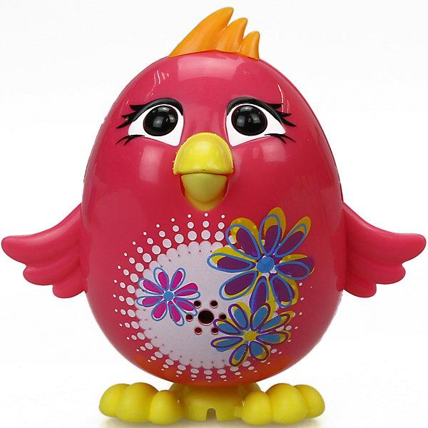 Цыпленок с кольцом Poppy, розовый, DigiBirdsИнтерактивные животные<br>Характеристики товара:<br><br>- цвет: розовый;<br>- материал: пластик, металл;<br>- батарейки: 3xAG13/LR44, в комплекте;<br>- размер упаковки: 10x6x15 см;<br>- габариты игрушки: 6 см;<br>- умеет петь.<br><br>Такая игрушка в виде цыпленка поможет ребенку весело проводить время - она умеет петь. Это выглядит очень забавно! Игрушка реагирует на звук от специального свистка, который входит в комплект. Также можно приобрести другие игрушки из этой серии - тогда они будут петь хором!<br>Цыпленок способен помогать всестороннему развитию ребенка: развивать тактильное восприятие, мелкую моторику, воображение, внимание и логику. Изделие произведено из качественных материалов, безопасных для ребенка. Набор станет отличным подарком детям!<br><br>Цыпленка с кольцом Poppy, розовый, от бренда DigiBirds можно купить в нашем интернет-магазине.<br>Ширина мм: 200; Глубина мм: 102; Высота мм: 152; Вес г: 122; Возраст от месяцев: 36; Возраст до месяцев: 84; Пол: Женский; Возраст: Детский; SKU: 5138208;