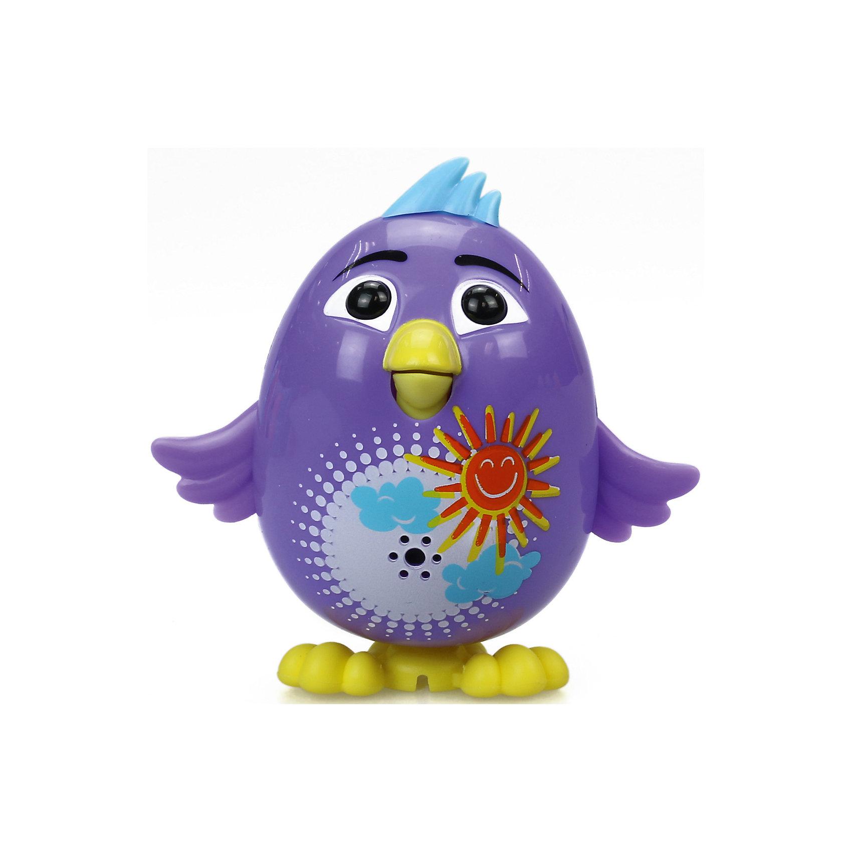 Цыпленок с кольцом Violet, фиолетовый, DigiBirdsИнтерактивные животные<br>Характеристики товара:<br><br>- цвет: фиолетовый;<br>- материал: пластик, металл;<br>- батарейки: 3xAG13/LR44, в комплекте;<br>- размер упаковки: 10x6x15 см;<br>- габариты игрушки: 6 см;<br>- умеет петь.<br><br>Такая игрушка в виде цыпленка поможет ребенку весело проводить время - она умеет петь. Это выглядит очень забавно! Игрушка реагирует на звук от специального свистка, который входит в комплект. Также можно приобрести другие игрушки из этой серии - тогда они будут петь хором!<br>Цыпленок способен помогать всестороннему развитию ребенка: развивать тактильное восприятие, мелкую моторику, воображение, внимание и логику. Изделие произведено из качественных материалов, безопасных для ребенка. Набор станет отличным подарком детям!<br><br>Цыпленка с кольцом Violet, фиолетовый, от бренда DigiBirds можно купить в нашем интернет-магазине.<br><br>Ширина мм: 200<br>Глубина мм: 102<br>Высота мм: 152<br>Вес г: 122<br>Возраст от месяцев: 36<br>Возраст до месяцев: 84<br>Пол: Женский<br>Возраст: Детский<br>SKU: 5138209