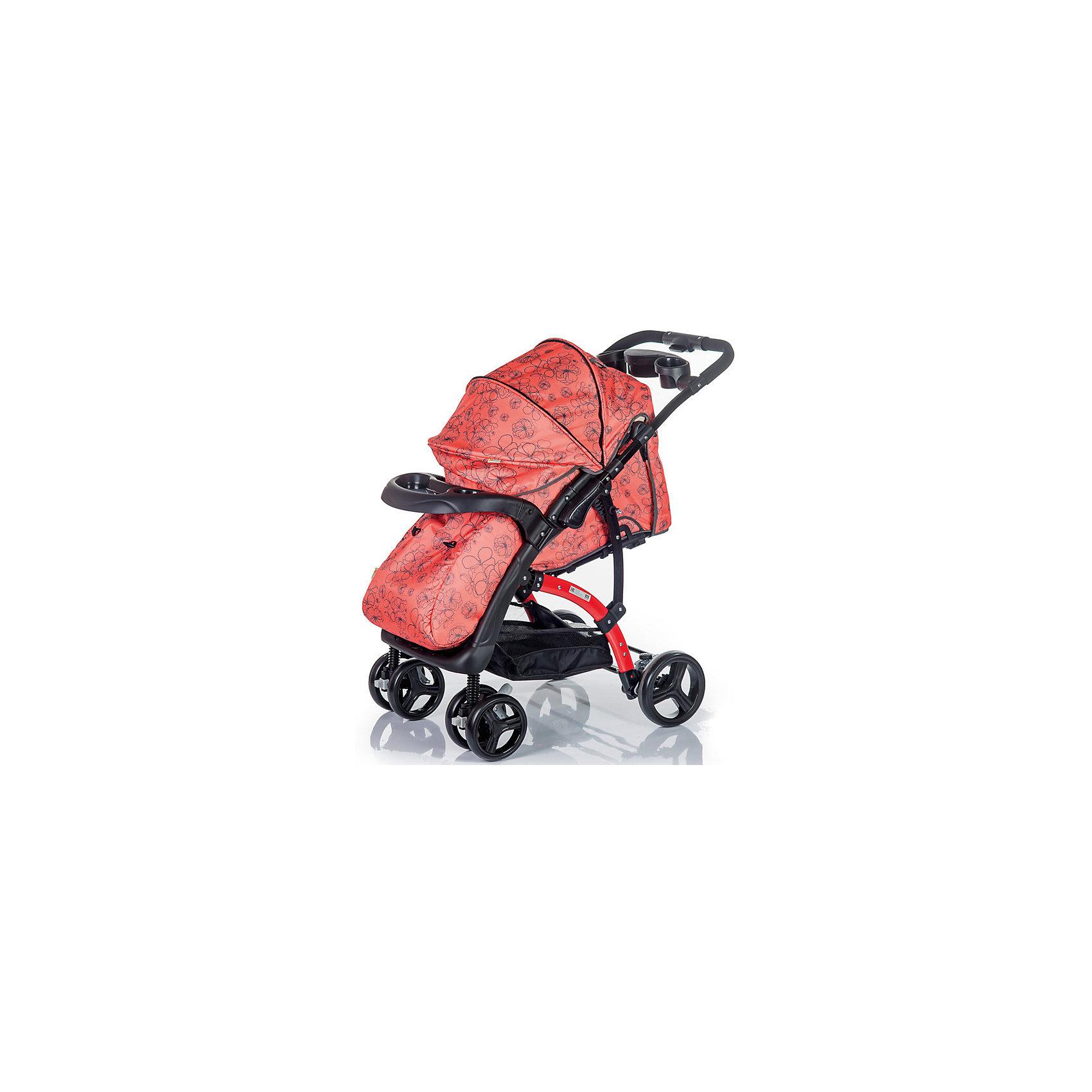 Baby Hit Прогулочная коляска FLORA, Babyhit, коралловый/серый прогулочные коляски babyhit drive
