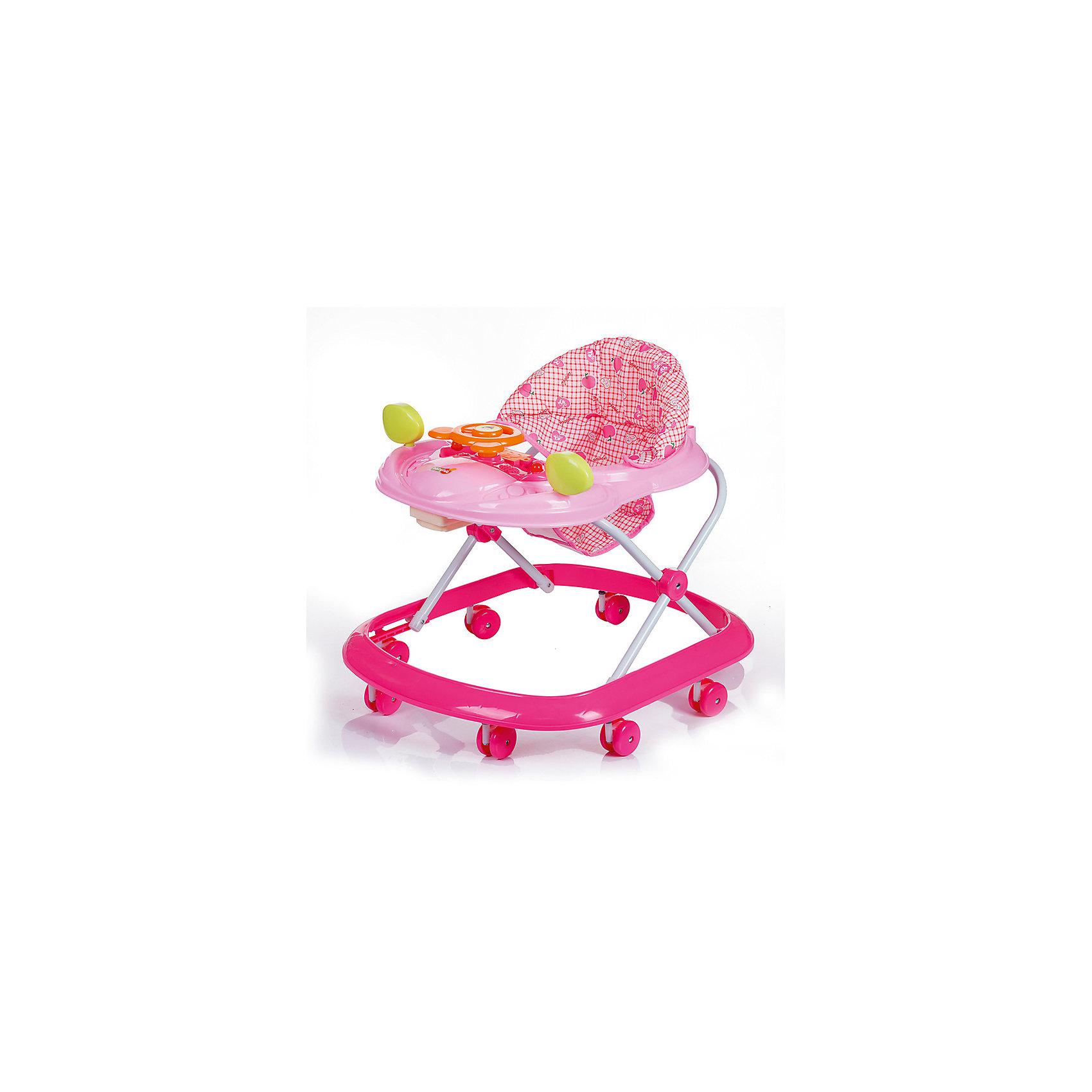 Ходунки FIRST-STEP, Babyhit, розовый