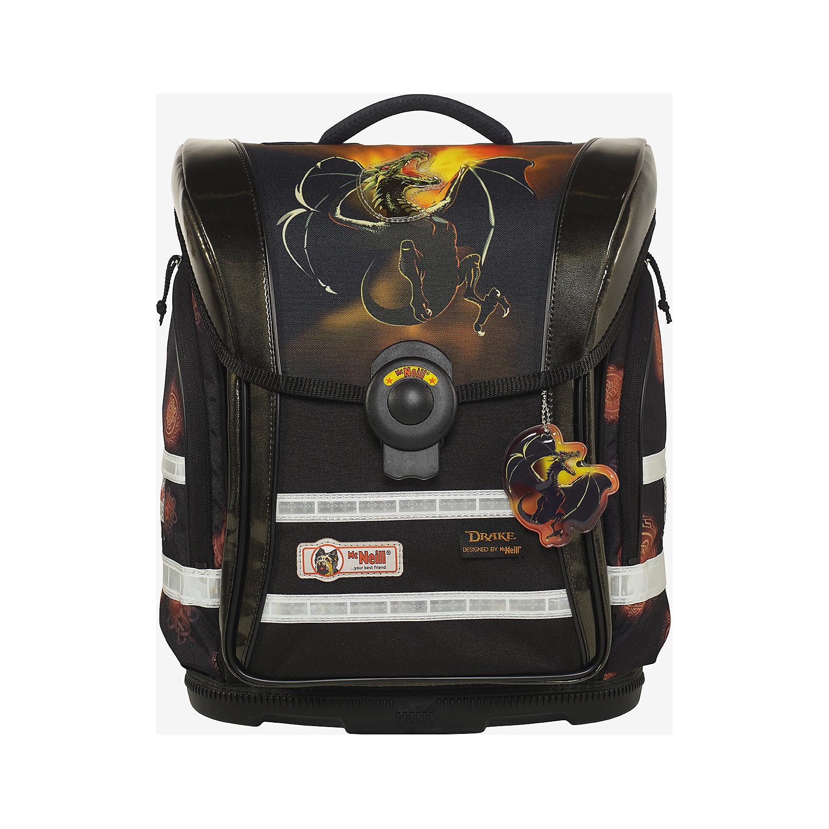 Школьный рюкзак Стиль MC Neill  ERGO Light COMPACTРанцы<br>Новое в ранцах McNeill ERGO Light COMPACT - Система SmartFlex –  изменяющаяся по высоте несущая система с 3-х точечной эргономикой. Вместимость 19,5 л,  вес ранца 1200 гр, удобный замок, боковые потайные карманы на молниях, дно из особо прочного пластика, ортопедическая спина, регулируемые ремни на мягких подушках.  В наборе  пенал с наполнением, пенал-тубус, сумка для обуви и спорта.     33*38*20см<br><br>Ширина мм: 422<br>Глубина мм: 350<br>Высота мм: 271<br>Вес г: 2104<br>Цвет: оранжевый/черный<br>Возраст от месяцев: 60<br>Возраст до месяцев: 120<br>Пол: Мужской<br>Возраст: Детский<br>SKU: 5139511