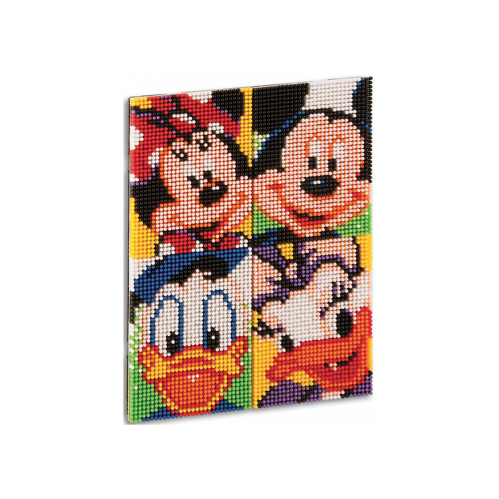 """Мозаика пиксельная """"Микки и его друзья"""", QuercettiМозаика пиксельная """"Микки и его друзья"""", Quercetti (Кверсетти).<br><br>Характеристики:<br><br>- В наборе: 6600 деталей диаметром 4 мм 9-ти цветов, 4 соединяющихся основы (размер одной основы 12х 16,5 см.), брошюра с карточками на которых изображены персонажи, инструкциями для создания портрета, соединительная панель<br>- Материал: безопасный пластик, окрашенный нетоксичными красками<br>- Упаковка: картонная коробка с ручкой<br>- Размер упаковки: 29 х 28,5 х 6 см.<br>- Вес: 1165 гр.<br><br>Пиксельная мозаика """"Микки и его друзья"""" от Quercetti (Кверсетти) поможет вашему малышу из 6600 деталей создать портреты знаменитых персонажей мультфильмов Диснея – Микки и Минни Маус, Дональда и Дэйзи Дак. Нужно просто положить цветную схему на основу и можно начинать собирать мозаику! Рисунок на листе разделен на маленькие квадратики. Ребенку нужно выбрать подходящие по цвету детали-гвоздики и вставить их в отверстия. Кончики элементов легко проходят сквозь бумагу и надежно фиксируются в основе. В итоге они ложатся ровными рядами, а разноцветные шляпки сливаются в единое цветовое полотно, и если смотреть на собранную картинку с расстояния, изображение чудесным образом преобразится, повторяя эффект фотографии. Готовые картинки можно соединить вместе и повесить на стену, как настоящую картину. Собирание мозаики развивает у детей цветовосприятие, творческие способности, внимание, усидчивость и мелкую моторику.<br><br>Мозаику пиксельную """"Микки и его друзья"""", Quercetti (Кверсетти) можно купить в нашем интернет-магазине.<br><br>Ширина мм: 390<br>Глубина мм: 70<br>Высота мм: 300<br>Вес г: 1243<br>Возраст от месяцев: 72<br>Возраст до месяцев: 2147483647<br>Пол: Унисекс<br>Возраст: Детский<br>SKU: 5140049"""