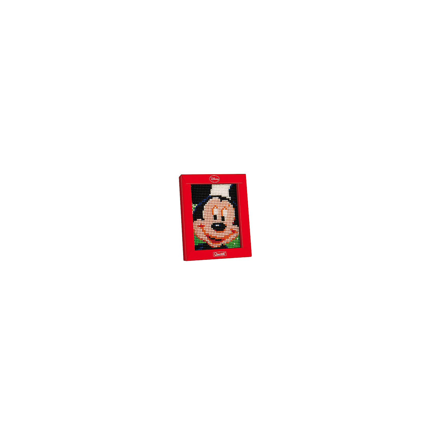 Пиксельная мозаика Микки, 1200 деталей, QuercettiМозаика<br>Пиксельная мозаика Микки, 1200 деталей, Quercetti (Кверсетти).<br><br>Характеристики:<br><br>- В наборе: 1200 деталей 7-ти цветов, основа (наборная доска), картонная рамка, направляющий лист, плакат, инструкция<br>- Размер основы: 12 х 16,5 см.<br>- Размер рамки: 16,5 х 21 х 3,2 см.<br>- Цвета: белый, розовый, оранжевый, красный, синий, зеленый, черный<br>- Материал: безопасный пластик, окрашенный нетоксичными красками<br>- Упаковка: картонная коробка<br>- Размер упаковки: 17 х 22 х 4 см.<br><br>Пиксельная мозаика от Quercetti (Кверсетти) поможет вашему малышу из 1200 деталей создать портрет любимого мультгероя Микки Мауса. Нужно просто положить цветную схему на основу и можно начинать собирать мозаику! Рисунок на листе разделен на маленькие квадратики. Ребенку нужно выбрать подходящие по цвету детали-гвоздики и вставить их в отверстия. Кончики элементов легко проходят сквозь бумагу и надежно фиксируются в основе. В итоге они ложатся ровными рядами, а разноцветные шляпки сливаются в единое цветовое полотно, и если смотреть на собранную картинку с расстояния, изображение чудесным образом преобразится, повторяя эффект фотографии. Готовую картинку можно вставить в картонную рамочку и повесить на стену, как настоящую картину. Собирание мозаики развивает у детей цветовосприятие, творческие способности, внимание, усидчивость и мелкую моторику.<br><br>Пиксельную мозаику Микки, 1200 деталей, Quercetti (Кверсетти) можно купить в нашем интернет-магазине.<br><br>Ширина мм: 220<br>Глубина мм: 36<br>Высота мм: 170<br>Вес г: 287<br>Возраст от месяцев: 60<br>Возраст до месяцев: 2147483647<br>Пол: Унисекс<br>Возраст: Детский<br>SKU: 5140051