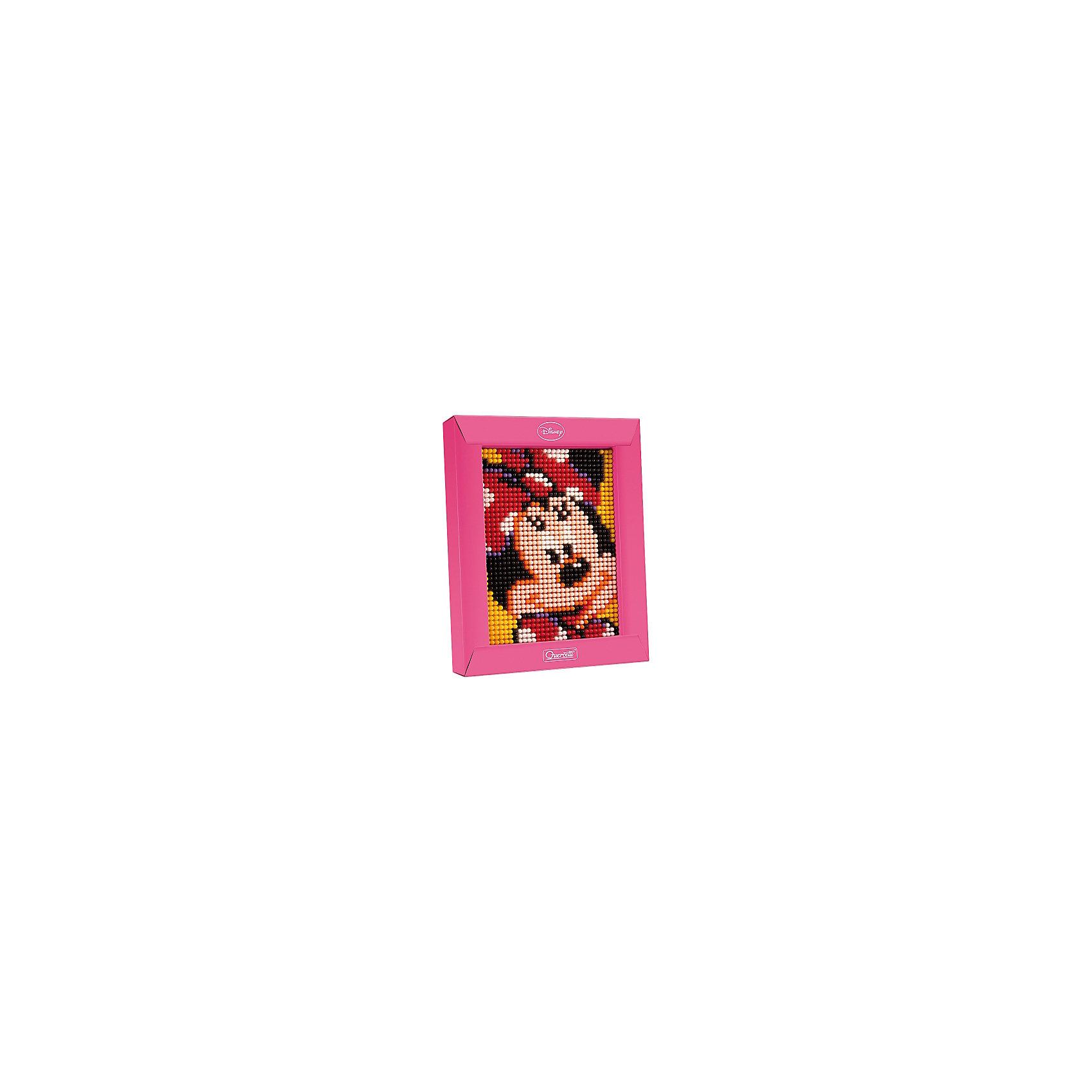 Пиксельная мозаика Минни, 1200 деталей, QuercettiМозаика<br>Пиксельная мозаика Минни, 1200 деталей, Quercetti (Кверсетти).<br><br>Характеристики:<br><br>- В наборе: 1200 деталей 7-ти цветов, основа (наборная доска), картонная рамка, направляющий лист, плакат, инструкция<br>- Размер основы: 12 х 16,5 см.<br>- Размер рамки: 16,5 х 21 х 3,2 см.<br>- Цвета: белый, желтый, оранжевый, красный, розовый, сиреневый, черный<br>- Материал: безопасный пластик, окрашенный нетоксичными красками<br>- Упаковка: картонная коробка<br>- Размер упаковки: 17 х 22 х 4 см.<br><br>Пиксельная мозаика от Quercetti (Кверсетти) поможет вашему малышу из 1200 деталей создать портрет очаровательной Минни Маус. Нужно просто положить цветную схему на основу и можно начинать собирать мозаику! Рисунок на листе разделен на маленькие квадратики. Ребенку нужно выбрать подходящие по цвету детали-гвоздики и вставить их в отверстия. Кончики элементов легко проходят сквозь бумагу и надежно фиксируются в основе. В итоге они ложатся ровными рядами, а разноцветные шляпки сливаются в единое цветовое полотно, и если смотреть на собранную картинку с расстояния, изображение чудесным образом преобразится, повторяя эффект фотографии. Готовую картинку можно вставить в картонную рамочку и повесить на стену, как настоящую картину. Собирание мозаики развивает у детей цветовосприятие, творческие способности, внимание, усидчивость и мелкую моторику.<br><br>Пиксельную мозаику Минни, 1200 деталей, Quercetti (Кверсетти) можно купить в нашем интернет-магазине.<br><br>Ширина мм: 220<br>Глубина мм: 36<br>Высота мм: 170<br>Вес г: 325<br>Возраст от месяцев: 60<br>Возраст до месяцев: 2147483647<br>Пол: Унисекс<br>Возраст: Детский<br>SKU: 5140052