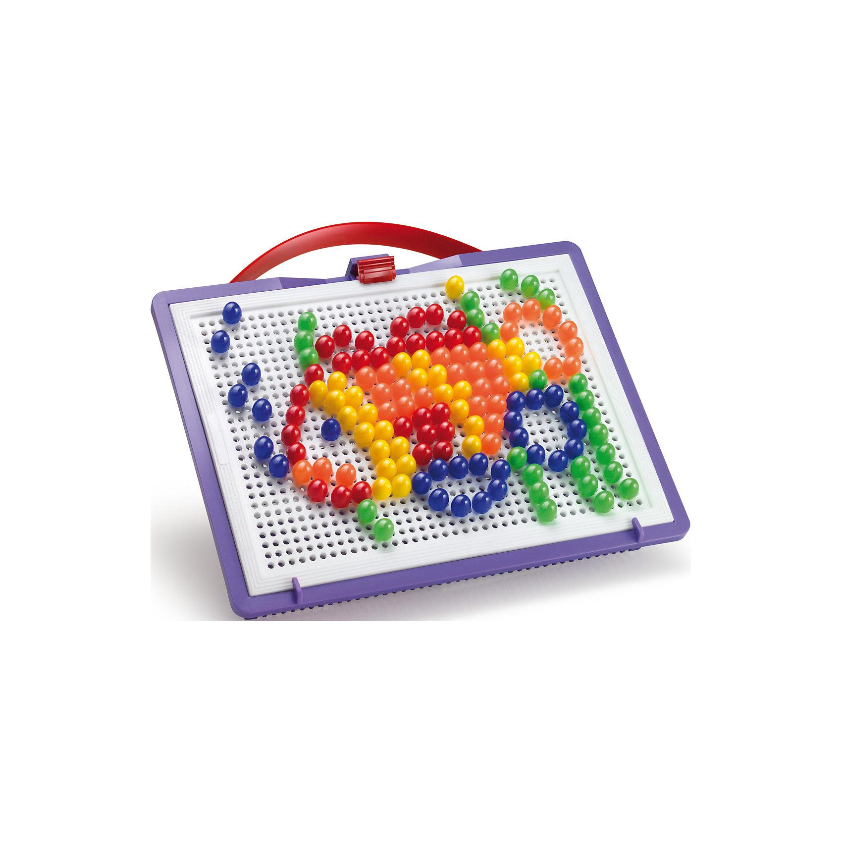 Мозаика Фантастические цвета, 150 деталей, QuercettiМозаика<br>Мозаика Фантастические цвета, 150 деталей, Quercetti (Кверсетти).<br><br>Характеристики:<br><br>- В наборе: 150 деталей-пуговиц 5-ти цветов диаметром 10 мм, чемоданчик для хранения, основа - игровое поле, инструкция<br>- Размер игрового поля: 22 х 16 см.<br>- Материал: безопасный пластик, окрашенный нетоксичными красками<br>- Упаковка: картонная коробка<br>- Размер упаковки: 32 х 24 х 6 см.<br>- Вес: 400 гр.<br><br>Мозаика Фантастические цвета приведет в восторг вашего ребенка и не позволит ему скучать. Комбинируя яркие разноцветные детали, ребенок может собирать на игровом поле изображения из инструкции или придумывать картинки сам. Мозаику легко взять с собой куда угодно, поскольку она упакована в удобный чемоданчик-планшет. Его крышка – это игровое поле с множеством дырочек. За специальную ручку чемоданчик можно легко переносить с места на место, игровое поле при этом фиксируется замочком. Детали мозаики изготовлены из прочного гладкого пластика с глянцевой поверхностью, а игровое поле – из мягкого и гибкого пластика. Собирание мозаики развивает у детей цветовосприятие, творческие способности, внимание, усидчивость и мелкую моторику.<br><br>Мозаику Фантастические цвета, 150 деталей, Quercetti (Кверсетти) можно купить в нашем интернет-магазине.<br><br>Ширина мм: 320<br>Глубина мм: 60<br>Высота мм: 240<br>Вес г: 433<br>Возраст от месяцев: 36<br>Возраст до месяцев: 2147483647<br>Пол: Унисекс<br>Возраст: Детский<br>SKU: 5140059