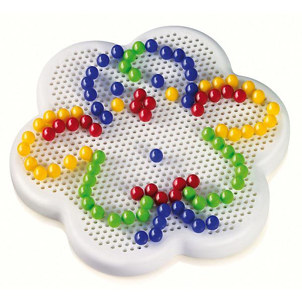 Мозаика в форме маргаритки, д. 10 мм, QuercettiМозаика<br>Мозаика в форме маргаритки, д. 10 мм, Quercetti (Кверсетти).<br><br>Характеристики:<br><br>- В наборе: 100 разноцветных деталей-гвоздиков диаметром 10 мм, игровое поле-основа из гибкого пластика в форме цветка, кейс для хранения деталей мозаики, книжка с примерами<br>- Диаметр игрового поля: 21 см.<br>- Цвета: красный, желтый, зеленый, синий<br>- Материал: безопасный пластик, окрашенный нетоксичными красками<br>- Упаковка: картонная коробка<br>- Размер упаковки: 23х20х5 см.<br>- Вес: 700 гр.<br><br>Мозаика в форме маргаритки приведет в восторг вашего ребенка и не позволит ему скучать. Комбинируя яркие разноцветные детали, ребенок может собирать на игровом поле изображения из инструкции или придумывать картинки сам. Мозаику легко взять с собой куда угодно, поскольку она упакована в удобный чемоданчик-планшет. Его крышка – это игровое поле с множеством дырочек. За специальную ручку чемоданчик можно легко переносить с места на место, игровое поле при этом фиксируется замочком. Детали мозаики изготовлены из прочного гладкого пластика с глянцевой поверхностью, а игровое поле – из мягкого и гибкого пластика. Собирание мозаики развивает у детей цветовосприятие, творческие способности, внимание, усидчивость и мелкую моторику.<br><br>Мозаику в форме маргаритки, д. 10 мм, Quercetti (Кверсетти) можно купить в нашем интернет-магазине.<br><br>Ширина мм: 230<br>Глубина мм: 50<br>Высота мм: 200<br>Вес г: 233<br>Возраст от месяцев: 36<br>Возраст до месяцев: 2147483647<br>Пол: Унисекс<br>Возраст: Детский<br>SKU: 5140074