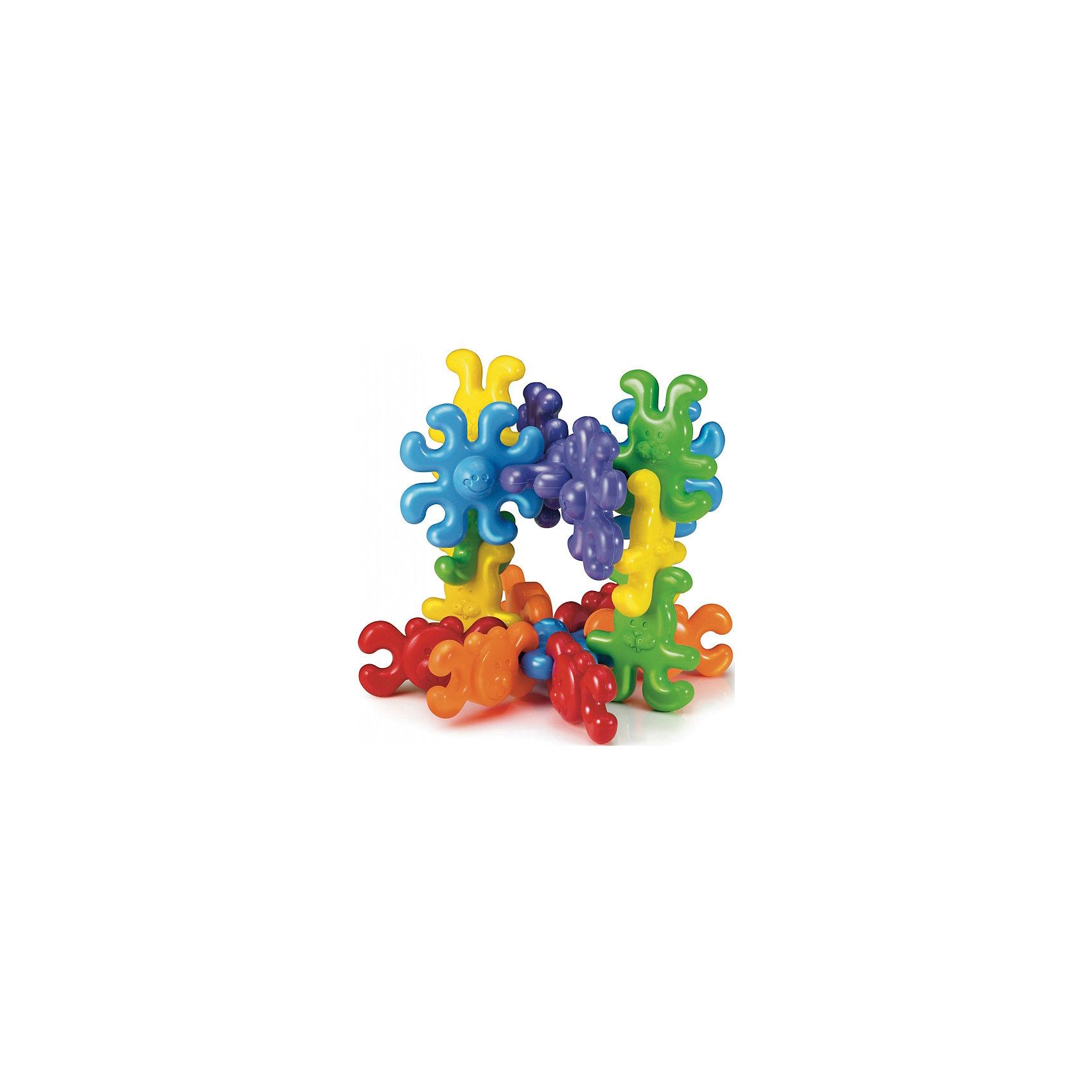 Конструктор Цепочка из животных, 18 деталей, QuercettiПластмассовые конструкторы<br>Конструктор Цепочка из животных, 18 деталей, Quercetti (Кверсетти).<br><br>Характеристики:<br><br>- В наборе 18 разноцветных деталей: 6 мишек (красные, оранжевые), 6 зайчиков (желтые, зеленые), 6 осьминогов (голубые сиреневые)<br>- Материал: высококачественный пластик, окрашенный нетоксичными красками<br>- Упаковка: картонная коробка<br>- Размер упаковки: 18 х 29 х 9 см.<br>- Вес: 500 гр.<br><br>Конструктор Цепочка из животных от Quercetti (Кверсетти) принесет множество позитивный эмоций вашему малышу. Яркие цветные детали в виде улыбающихся животных привлекут внимание ребенка, а легкий вес позволит играть с ними очень долго. Во время игры он научится соединять детали, создавая цепочку или свою собственную конструкцию, сортировать детали по цвету, чередовать детали, соблюдая определенную закономерность. Все детали соединяются между собой при помощи универсальных креплений. Для знакомства с конструктором соберите вместе с ребенком цепочки из мишек, зайчиков или желтую и красную цепочку. Затем попробуйте вместе с малышом собрать цепочку, где детали чередуются или расположены симметрично. Можно собирать цепочки разной длины. Также детали конструктора можно использовать как счетный материал и осваивать понятия «один», «много», «больше», «меньше», «поровну». Постоянно пересчитывайте детали: для начала в пределах пяти, затем десяти, а потом и восемнадцати. Конструктор «Цепочка изживотных» развивает у ребенка логику, память, усидчивость и мелкую моторику рук, а также помогает научиться считать, изучить сходство и различия предметов, их объем, форму, цвет. Удобные крупные детали изготовлены из приятного на ощупь, мягкого и безопасного пластика, легко моются.<br><br>Конструктор Цепочка из животных, 18 деталей, Quercetti (Кверсетти) можно купить в нашем интернет-магазине.<br><br>Ширина мм: 180<br>Глубина мм: 90<br>Высота мм: 290<br>Вес г: 467<br>Возраст от месяцев: 12<br>Возраст до месяцев: 21