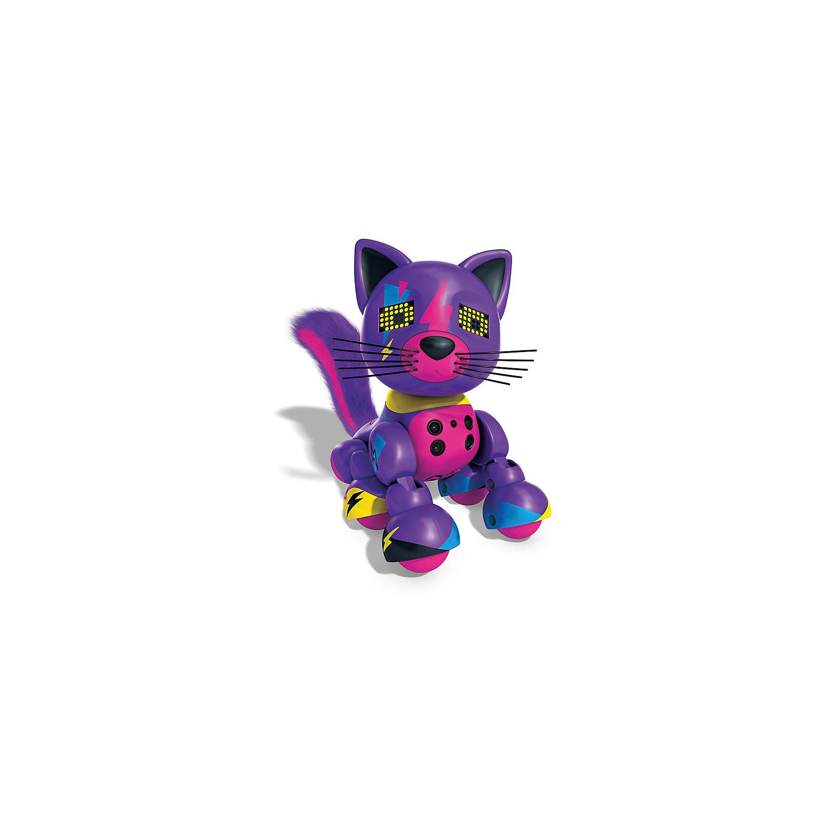 Spin Master Интерактивный Котёнок, фиолетовый, Zoomer spin master большой автомобиль спасателей погрузчик рокки щенячий патруль