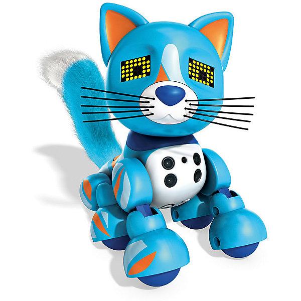 Интерактивный Котёнок, голубой, ZoomerИнтерактивные животные<br>Характеристики товара:<br><br>- цвет: голубой;<br>- материал: пластик, текстиль;<br>- батарейки: 3xAG13/LR44, в комплекте;<br>- размер упаковки: 20x18x14 см;<br>- вес: 660 г;<br>- умеет реагировать на прикосновение и движение, играет в различные игры, произносит звуки.<br><br>Такая игрушка в виде котенка поможет ребенку весело проводить время - он умеет реагировать на прикосновение и движение, играет в различные игры, произносит звуки. Это выглядит очень забавно! Игрушка реагирует на движения благодаря сенсорам и ИК-порту, также у неё можно активировать подсветку глаз.<br>Этот котенок способен помогать всестороннему развитию ребенка: развивать тактильное восприятие, мелкую моторику, воображение, внимание и логику. Изделие произведено из качественных проверенных материалов, безопасных для малышей. Ёж станет отличным подарком детям!<br><br>Игрушку Интерактивный Котёнок, голубой, от бренда Zoomer можно купить в нашем интернет-магазине.<br>Ширина мм: 215; Глубина мм: 180; Высота мм: 135; Вес г: 532; Возраст от месяцев: 36; Возраст до месяцев: 2147483647; Пол: Унисекс; Возраст: Детский; SKU: 5140254;