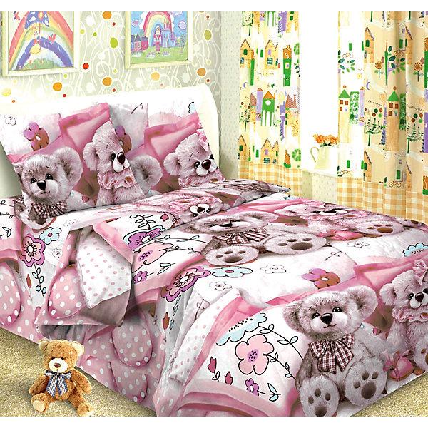 Детское постельное белье 1,5 сп. Letto, Тэдди, розовыйДетское постельное бельё<br>Постельное белье Тэдди (нав.50*70), Letto, розовый<br><br>Характеристики:<br><br>• Размер простыни: 148х215<br>• Размер наволочки: 50х70<br>• Размер пододеяльника: 143х215<br>• Ткань: Бязь<br>• Количество предметов: 1 наволочка, 1 простынь, 1 пододеяльник<br>• Цвет: розовый<br>• Размерность: 1,5 спальное<br><br>Дизайнерский комплект постельного белья с известными мишками порадует маленьких детей и подростков. Натуральная ткань не вызывает аллергии и дарит ребенку хороший сон. Качественное нанесение краски не позволит комплекту потерять красивый внешний вид. Стирать можно до 30 градусов. Пододеяльник застегивается на молнию, что делает его удобным для детей и взрослых.<br><br>Постельное белье Тэдди (нав.50*70), Letto, розовый можно купить в нашем интернет магазине.<br>Ширина мм: 390; Глубина мм: 280; Высота мм: 40; Вес г: 1500; Возраст от месяцев: 36; Возраст до месяцев: 216; Пол: Женский; Возраст: Детский; SKU: 5141938;