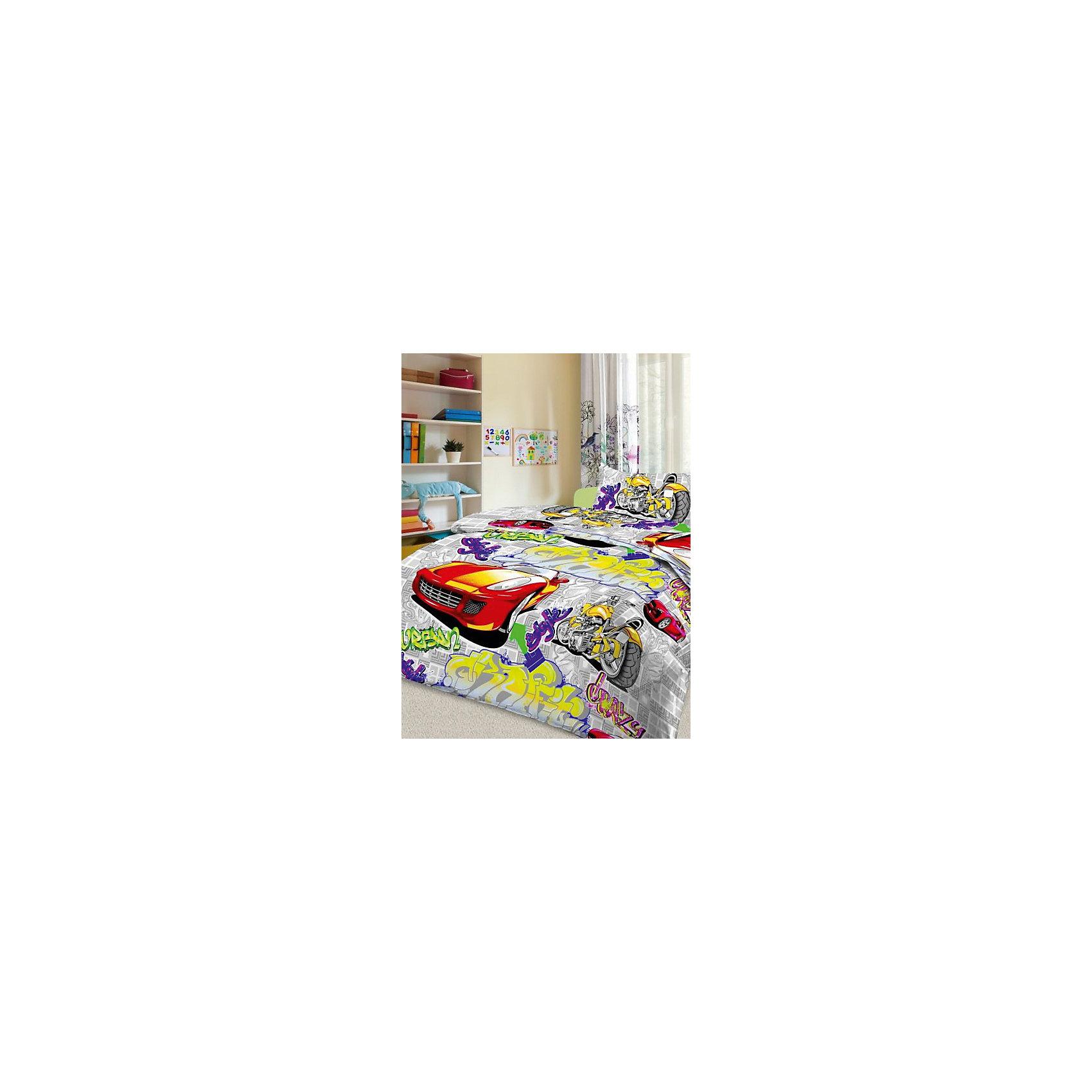 цены Letto Постельное белье Граффити (нав.50*70), Letto, серый