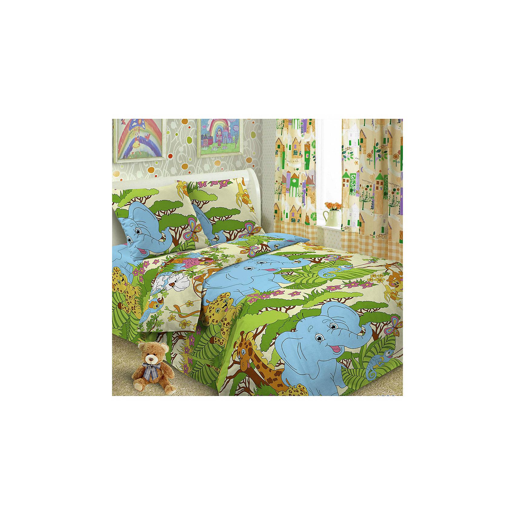 Letto Постельное белье Джунгли (нав.50*70), Letto комплект белья letto семейный наволочки 70х70 цвет голубой синий b183 7