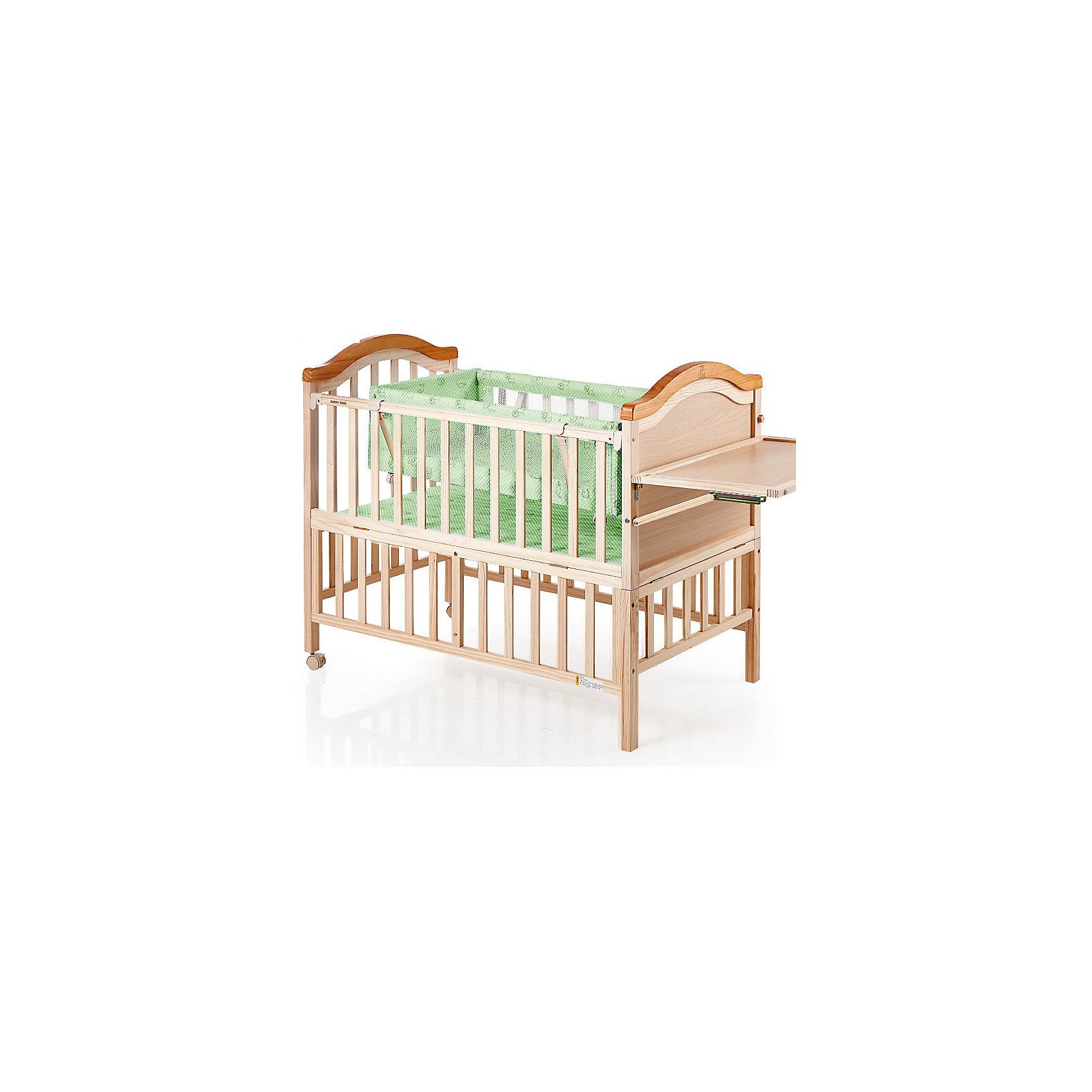 Кроватка LMY632HA (H453), Geoby, зеленыйКроватки<br>Изящная, продуманная до мелочей конструкция кровати Geoby LMY 632 прослужит Вам долго, так как может трансформироваться в подростковую кроватку.<br><br>Края кроватки LMY 632 сглажены, без выступающих углов, что предотвращает непроизвольные травмы у малышей. Хорошо прилегающие закрытые шурупы и болты обеспечивают отсутствие царапин и мелких травм у детей.<br><br>Характеристики кроватки LMY 632:<br>Кроватка выполнена из дерева (сосна).<br>Откидная боковая спинка.<br>Безопасное расстояние между ламелями.<br>Размер в разложенном виде: 1430 х 680 х 875 мм.<br><br>В комплекте: матрас, балдахин, люлька.<br><br>Ширина мм: 1180<br>Глубина мм: 235<br>Высота мм: 780<br>Вес г: 25500<br>Возраст от месяцев: 0<br>Возраст до месяцев: 84<br>Пол: Унисекс<br>Возраст: Детский<br>SKU: 5142380