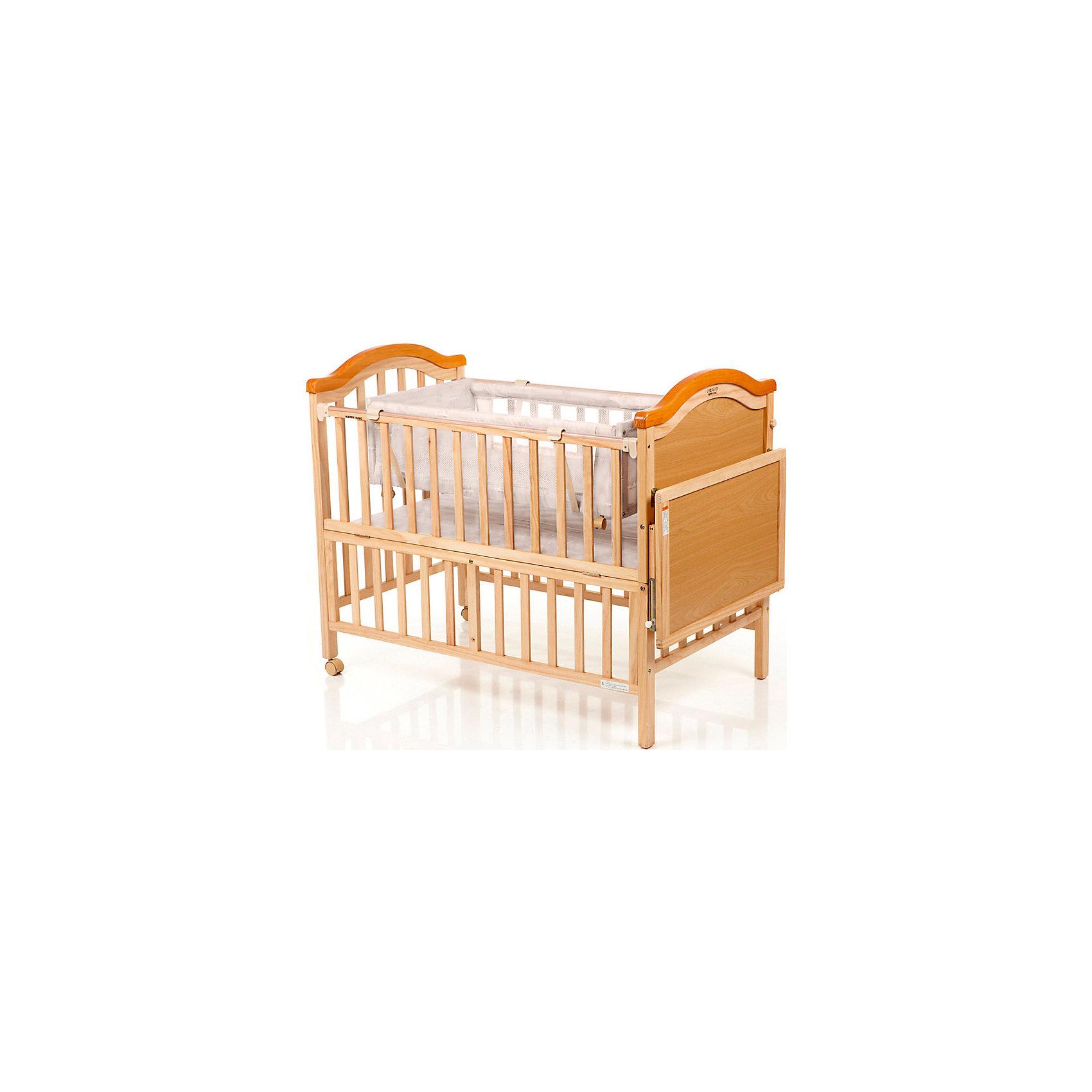 Кроватка LMY632H (J392), Geoby, бежевыйИзящная, продуманная до мелочей конструкция кровати Geoby LMY 632 прослужит Вам долго, так как может трансформироваться в подростковую кроватку.<br><br>Края кроватки LMY 632 сглажены, без выступающих углов, что предотвращает непроизвольные травмы у малышей. Хорошо прилегающие закрытые шурупы и болты обеспечивают отсутствие царапин и мелких травм у детей.<br><br>Характеристики кроватки LMY 632:<br>Кроватка выполнена из дерева (сосна).<br>Откидная боковая спинка.<br>Безопасное расстояние между ламелями.<br>Размер в разложенном виде: 1430 х 680 х 875 мм.<br><br>В комплекте: матрас, балдахин, люлька.<br><br>Ширина мм: 1180<br>Глубина мм: 235<br>Высота мм: 780<br>Вес г: 25500<br>Возраст от месяцев: 0<br>Возраст до месяцев: 84<br>Пол: Унисекс<br>Возраст: Детский<br>SKU: 5142381