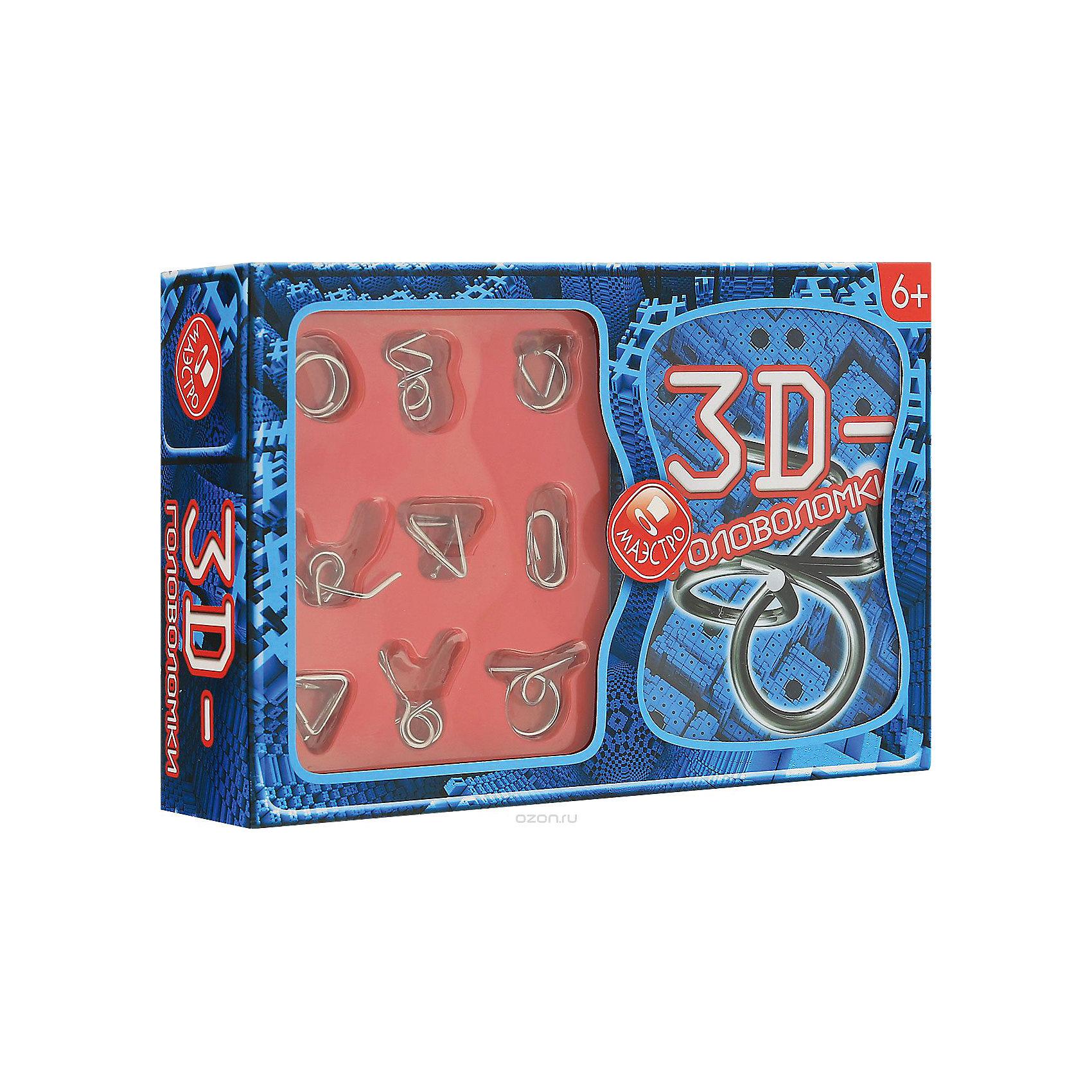 3D головоломкиКнига + 9 металлических головоломок<br><br>Ширина мм: 250<br>Глубина мм: 160<br>Высота мм: 60<br>Вес г: 300<br>Возраст от месяцев: 36<br>Возраст до месяцев: 144<br>Пол: Унисекс<br>Возраст: Детский<br>SKU: 5142472