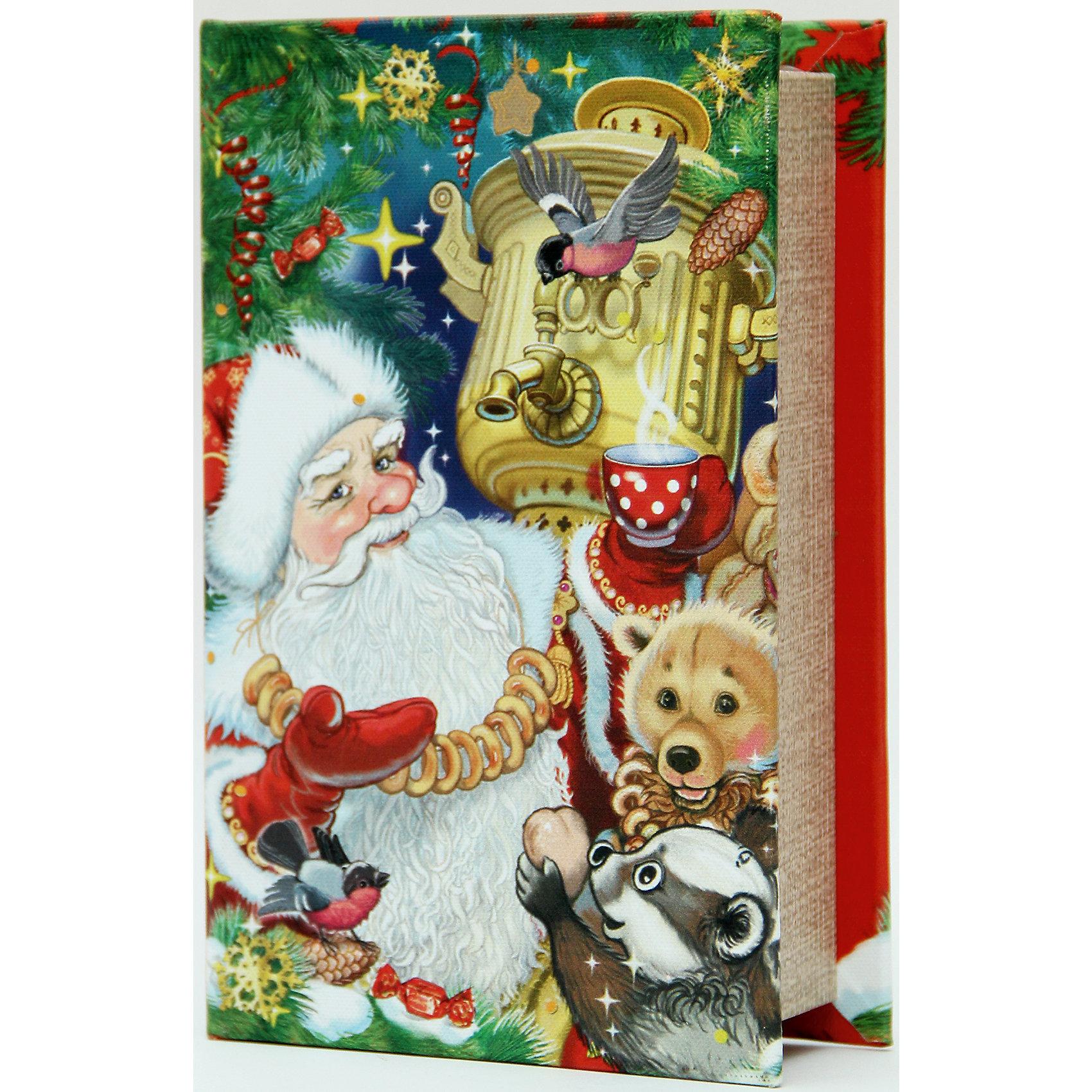 Декоративная шкатулка Дед Мороз с самоваром  (17*11*5, из МДФ)Новогодние свечи и подсвечники<br>Декоративная шкатулка Дед Мороз с самоваром арт.38472 (17*11*5чс, из МДФ) / 17*11*5 арт.38472<br><br>Ширина мм: 180<br>Глубина мм: 120<br>Высота мм: 60<br>Вес г: 307<br>Возраст от месяцев: 60<br>Возраст до месяцев: 600<br>Пол: Унисекс<br>Возраст: Детский<br>SKU: 5144543