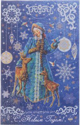 Феникс-Презент Декоративная шкатулка Снегурочка и оленята (17*11*5см, из МДФ)