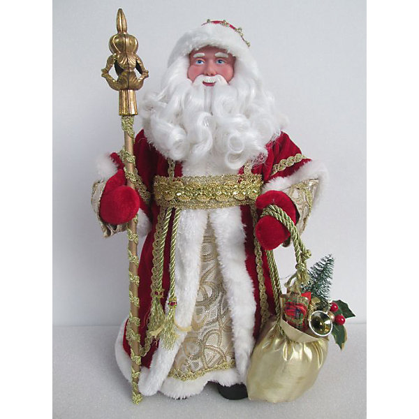 Новогодняя фигурка Дед Мороз в красном костюме (30см, из пластика и ткани)Ёлочные игрушки<br>Новогодняя фигурка Дед Мороз в красном костюме арт.39095 (30см, из пластика и ткани) арт.39095<br><br>Ширина мм: 150<br>Глубина мм: 95<br>Высота мм: 310<br>Вес г: 323<br>Возраст от месяцев: 60<br>Возраст до месяцев: 600<br>Пол: Унисекс<br>Возраст: Детский<br>SKU: 5144552