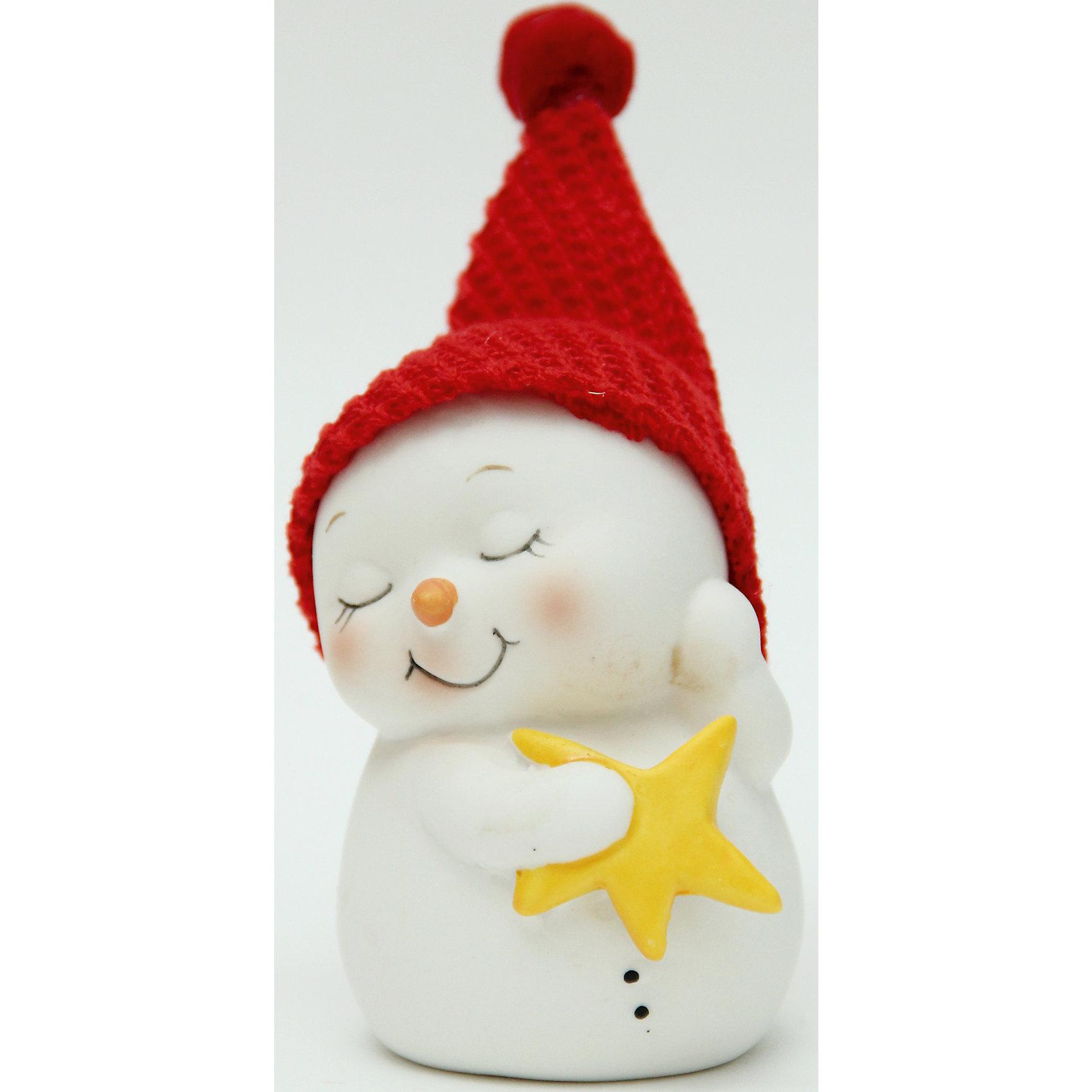 Новогодняя фигурка снеговика Снеговик со звездой  (8см, керамика)Новогодняя фигурка снеговика Снеговик со звездой арт.38337 (8см, керамика)<br><br>Ширина мм: 60<br>Глубина мм: 60<br>Высота мм: 80<br>Вес г: 131<br>Возраст от месяцев: 60<br>Возраст до месяцев: 600<br>Пол: Унисекс<br>Возраст: Детский<br>SKU: 5144555
